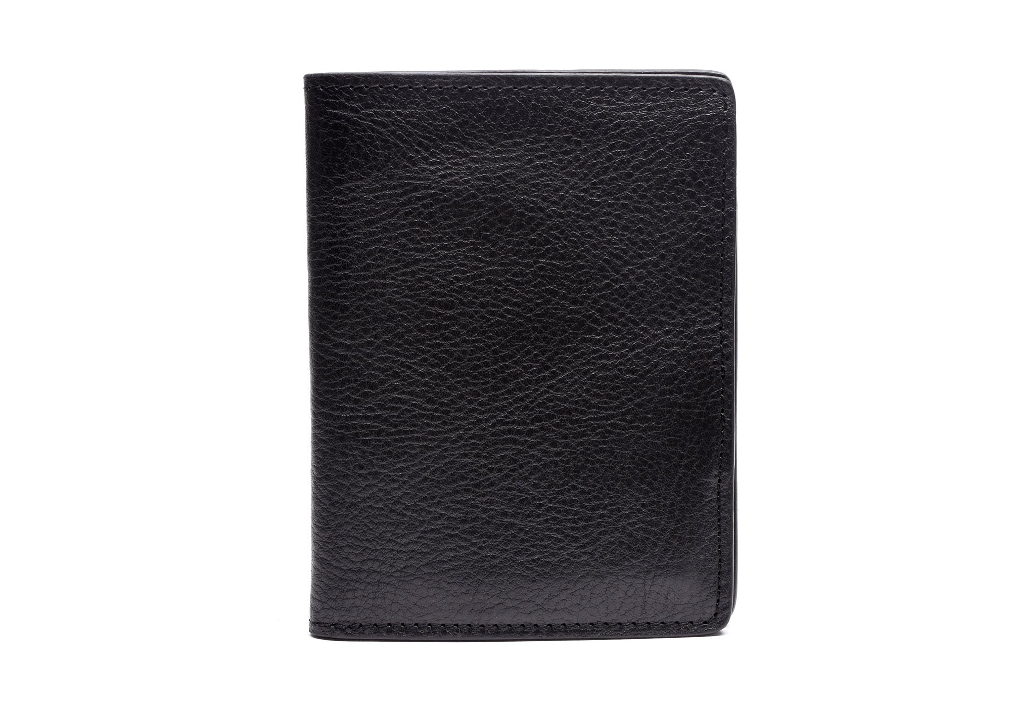 Leather Passport Wallet Black|Front View