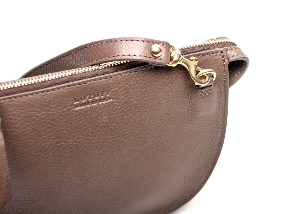 Leather Strap of The Mini Luna Clay-Natural