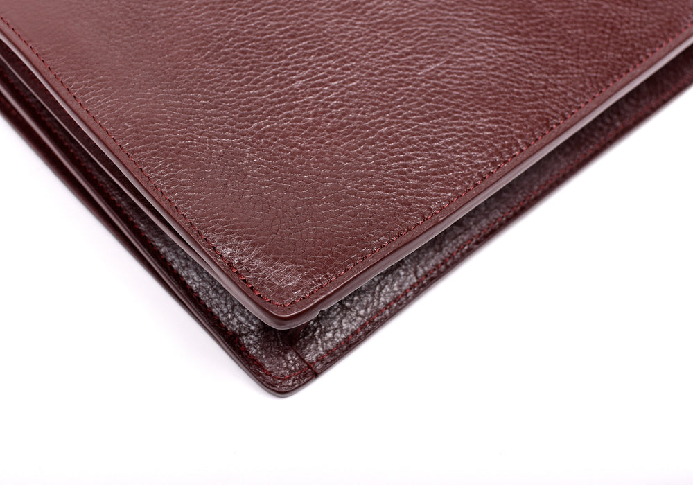 Corner Leather of The Tripp II Cordovan