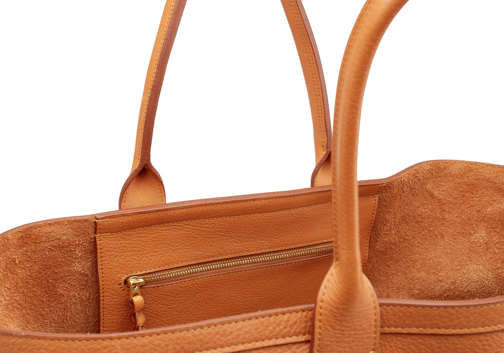 Leather Working Tote Camel