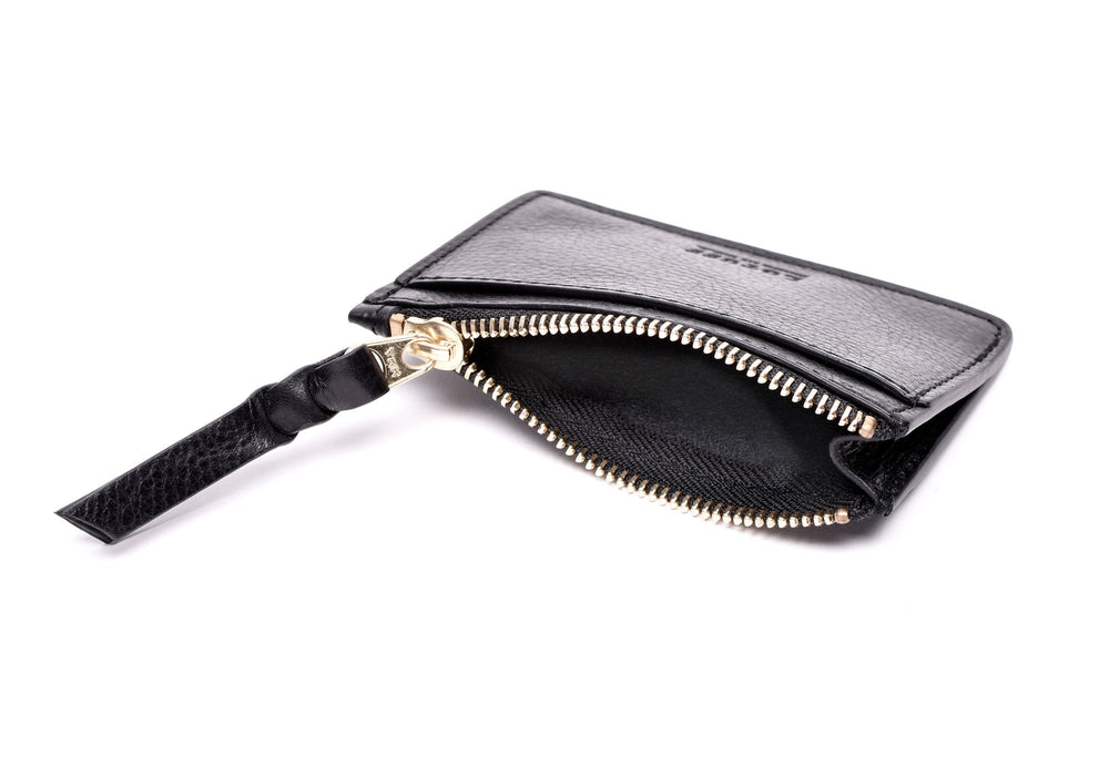 Zipper Credit Card Wallet Black