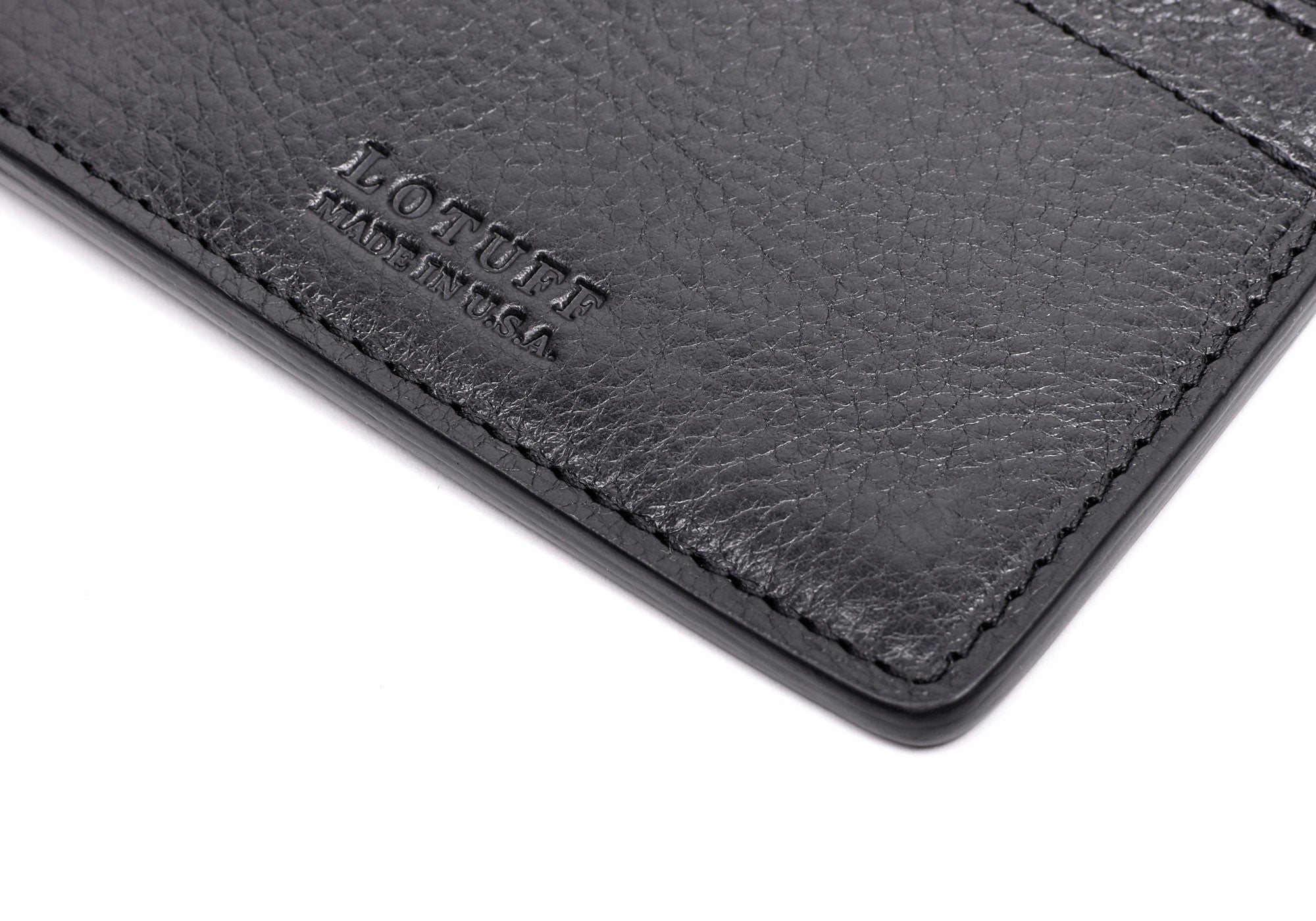 Side View of Zipper Credit Card Wallet Black