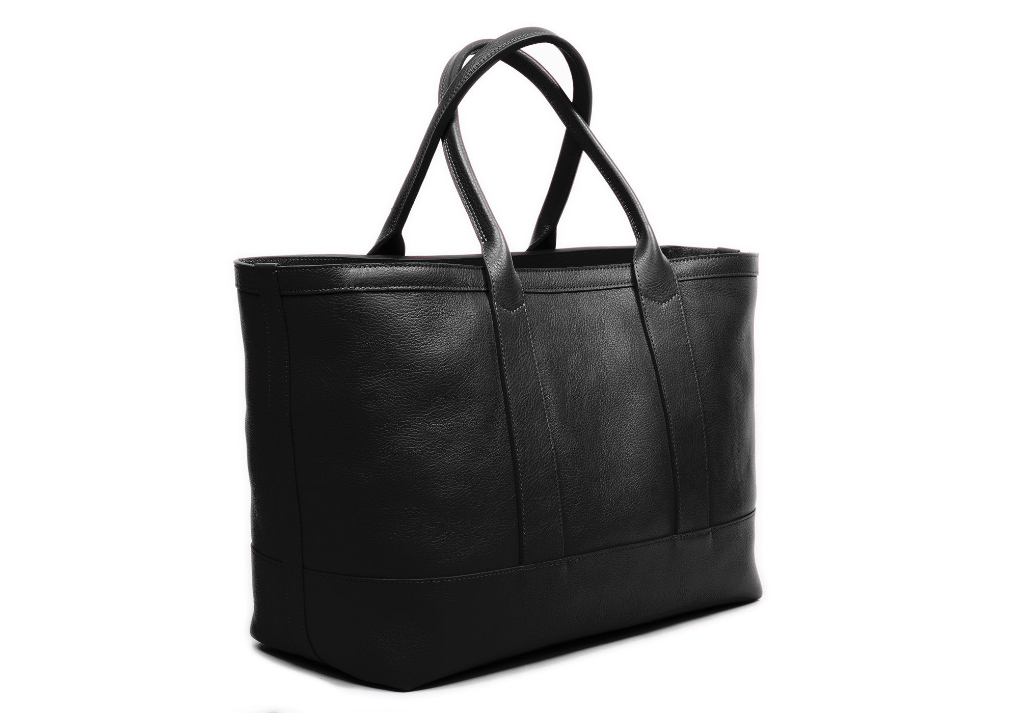 Medium Leather Tote Black