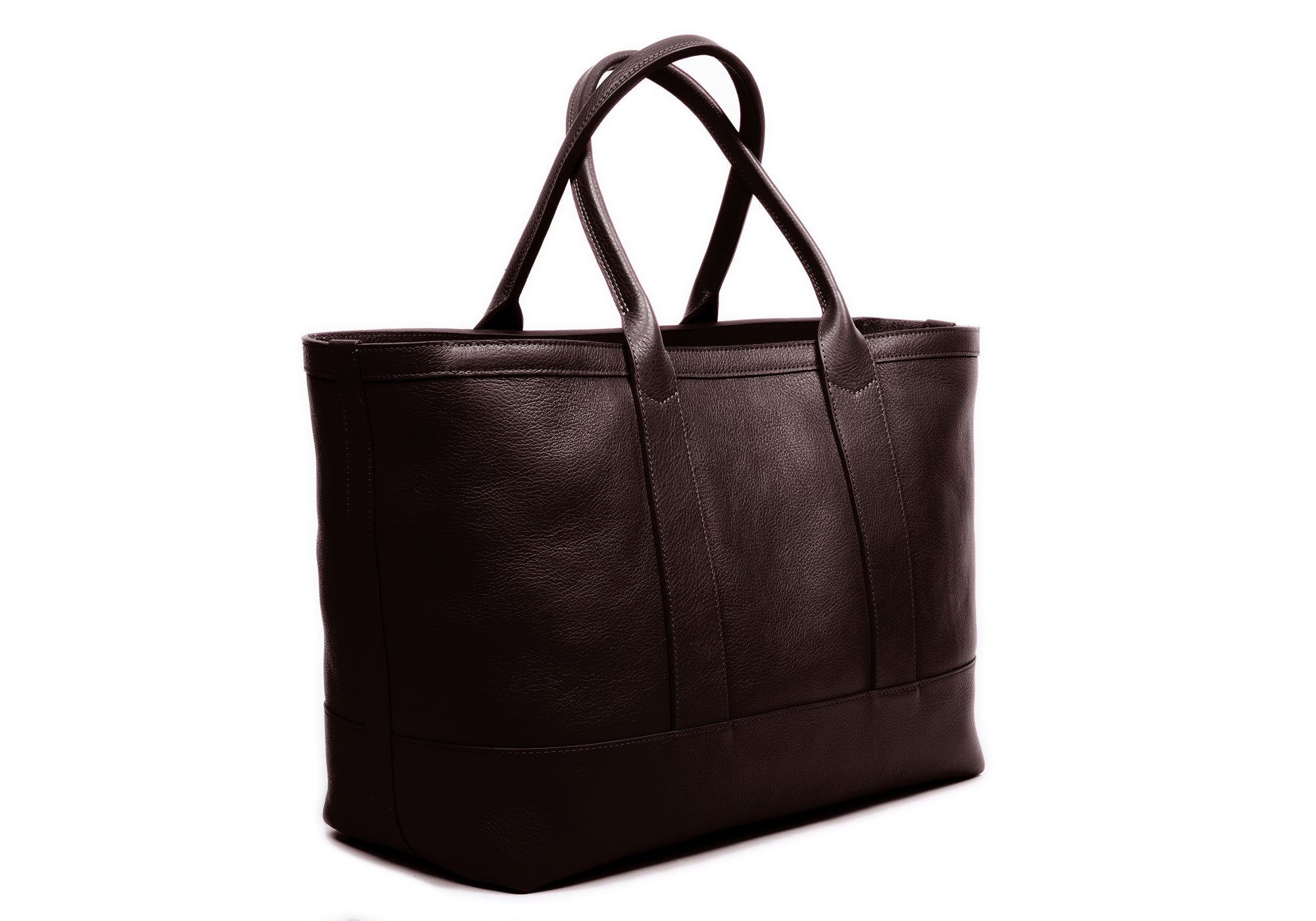 Medium Leather Tote Chocolate