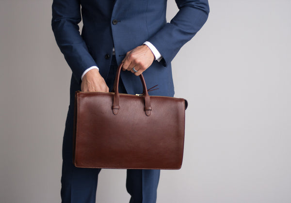 the triumph briefcase handmade leather briefcase and bag lotuff
