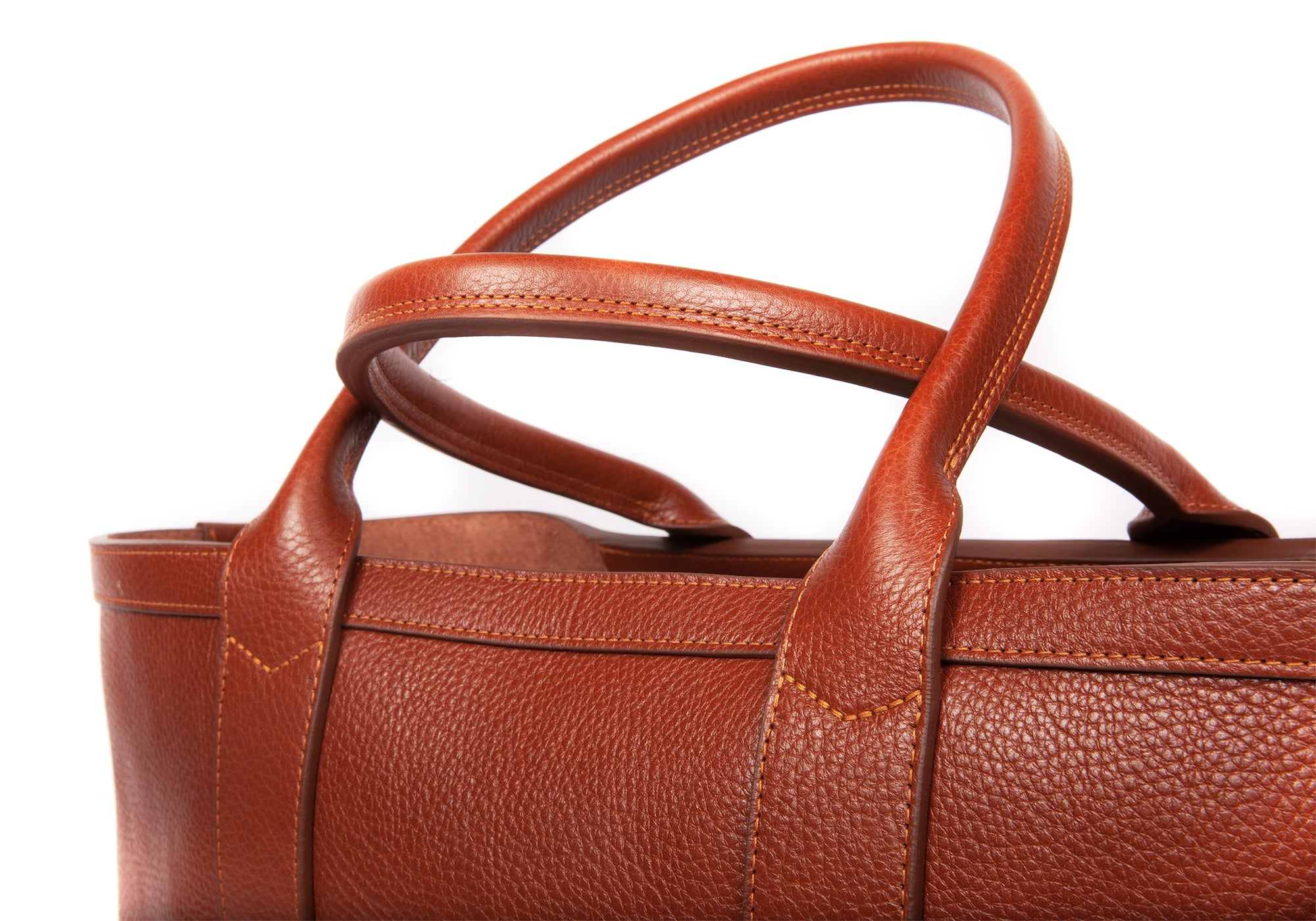 Medium Leather Tote Saddle Tan