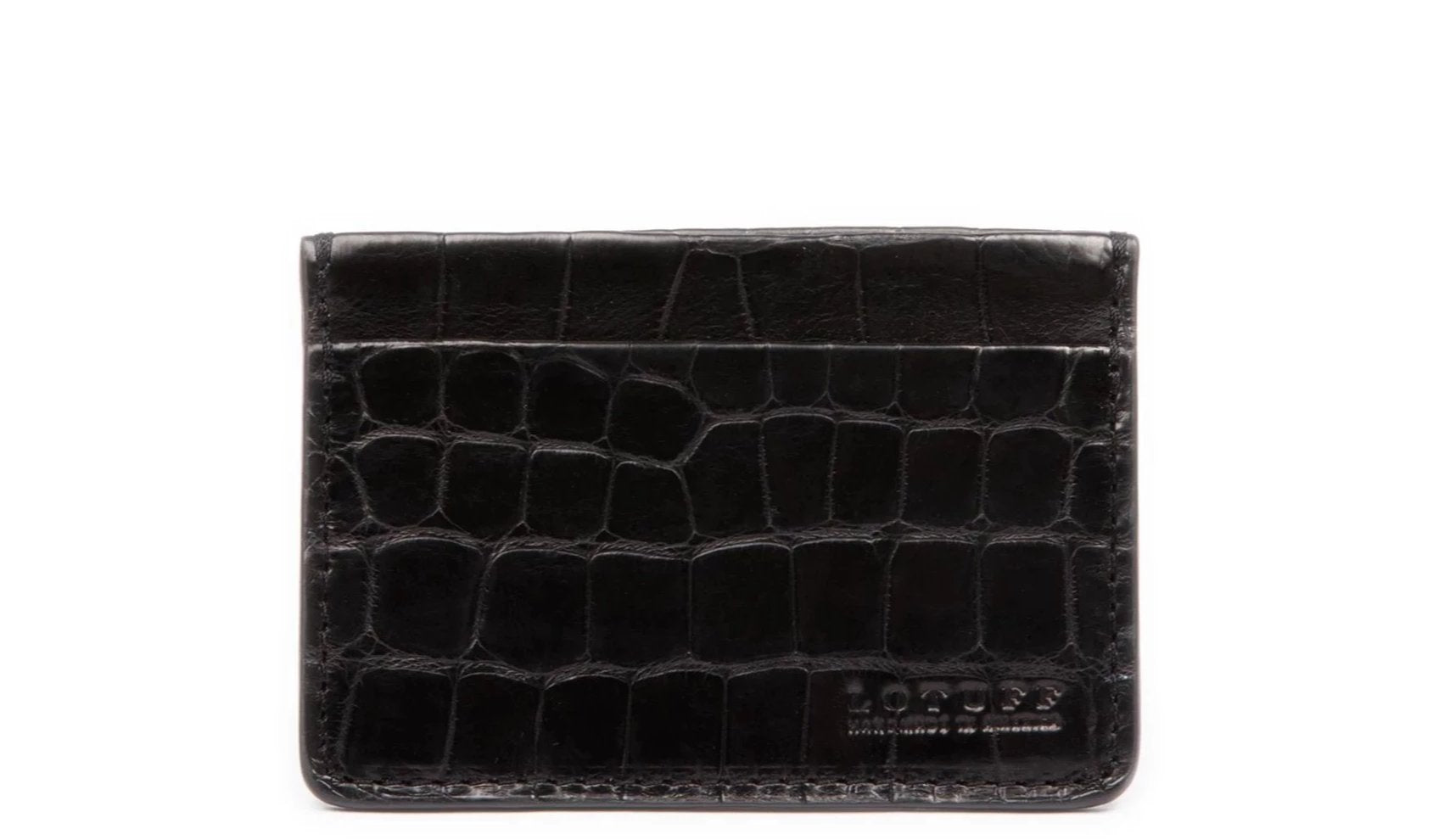 American Alligator Credit Card Wallet Black Alligator