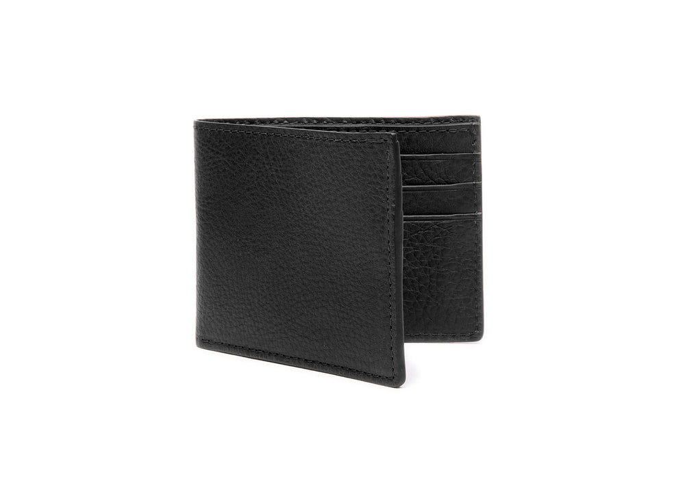 Leather Bifold Wallet Black