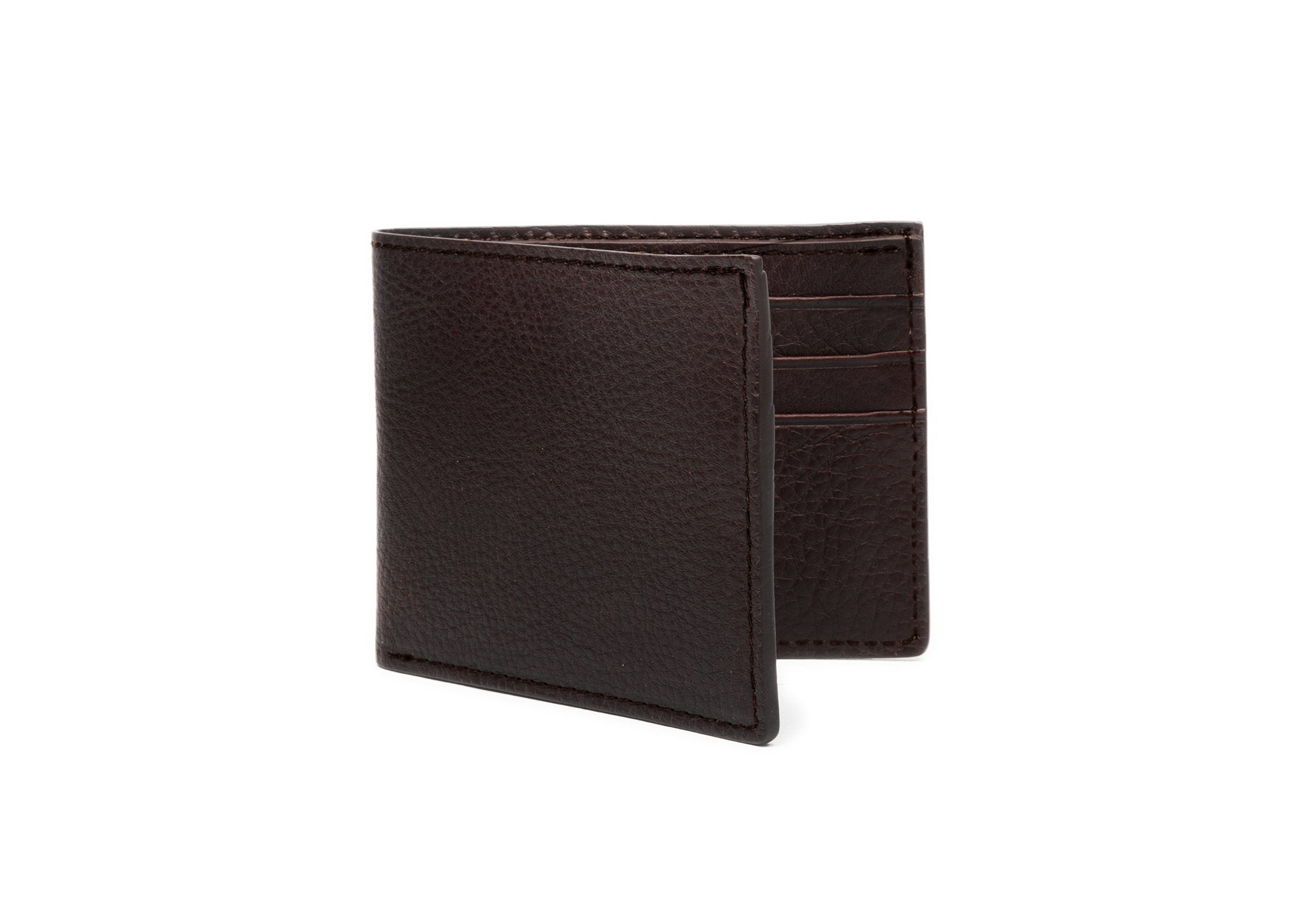 Leather Bifold Wallet Chocolate