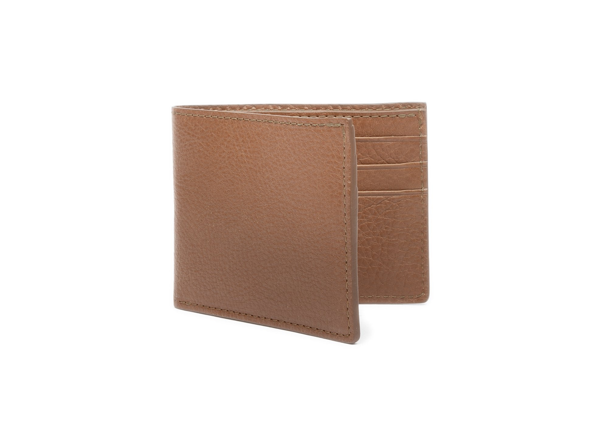 Leather Bifold Wallet Clay