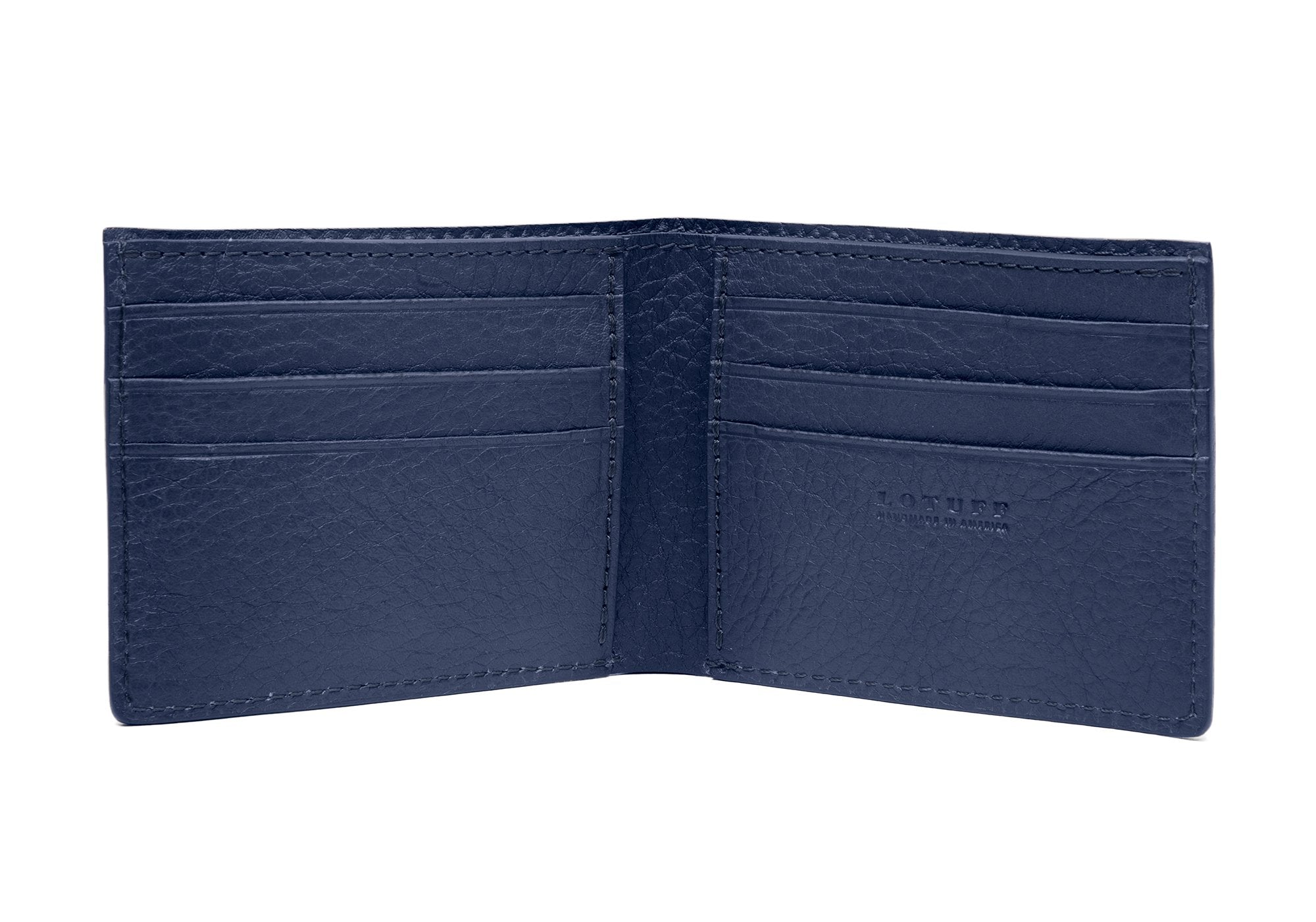 Leather Bifold Wallet Indigo