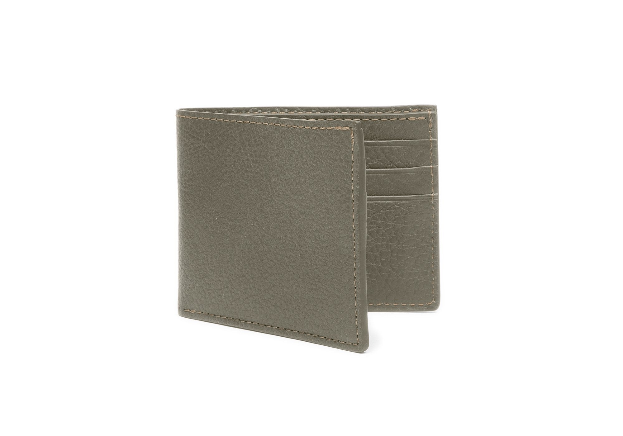 Leather Bifold Wallet Olive