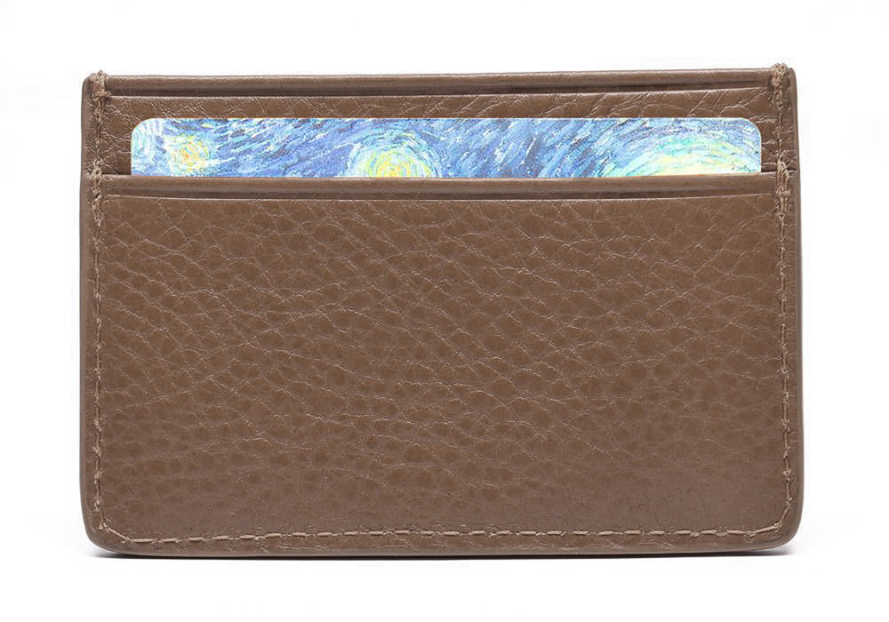 Leather Credit Card Wallet Clay