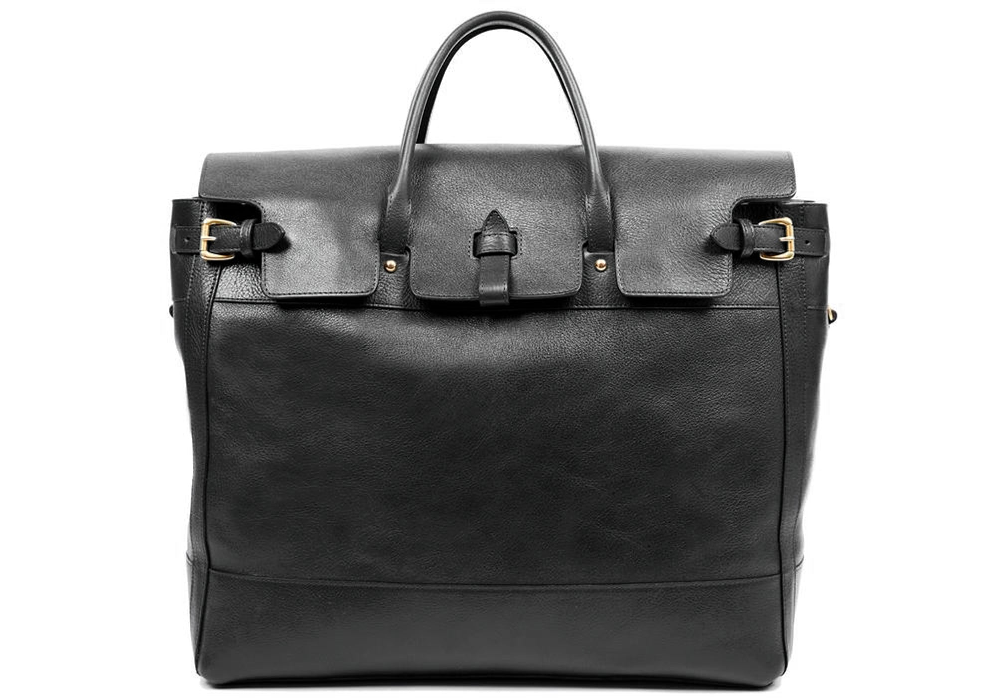 Leather Day Tote Black