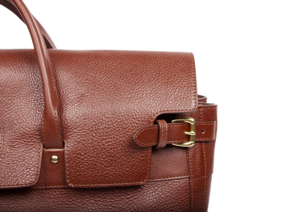 Leather Day Tote Chestnut