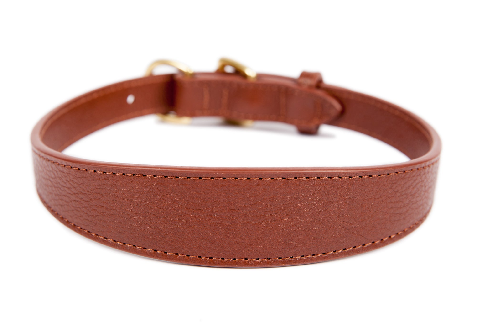 Large Leather Dog Collar Chestnut