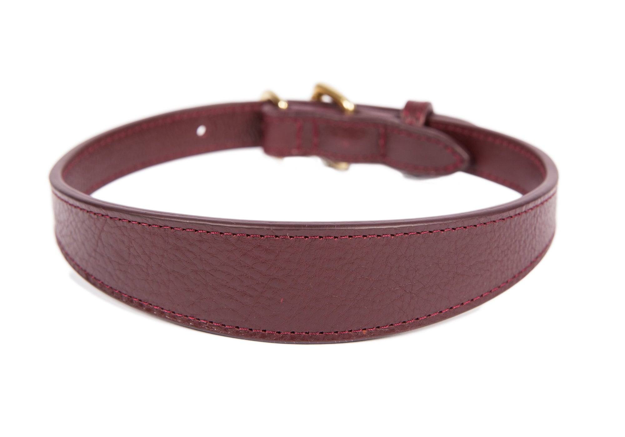 Large Leather Dog Collar Cordovan