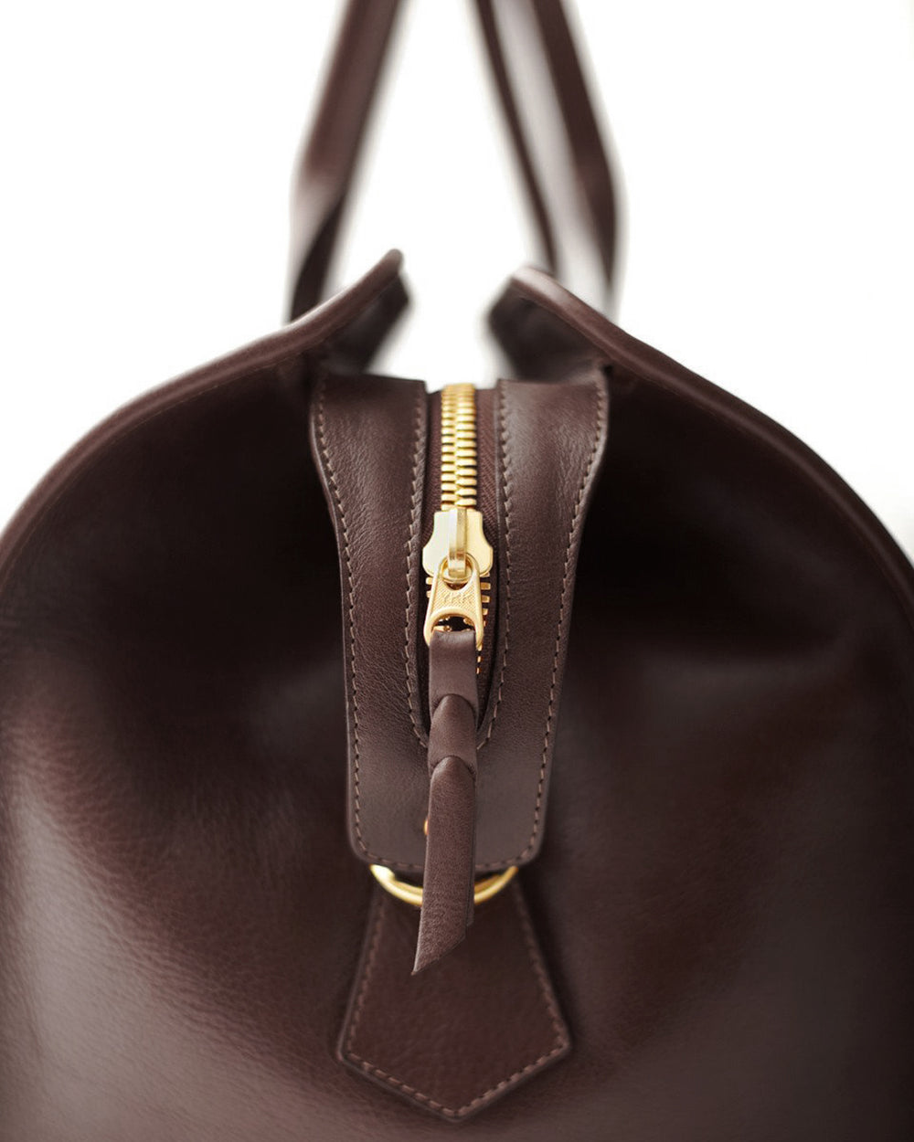 Leather Duffle Travel Bag Chocolate