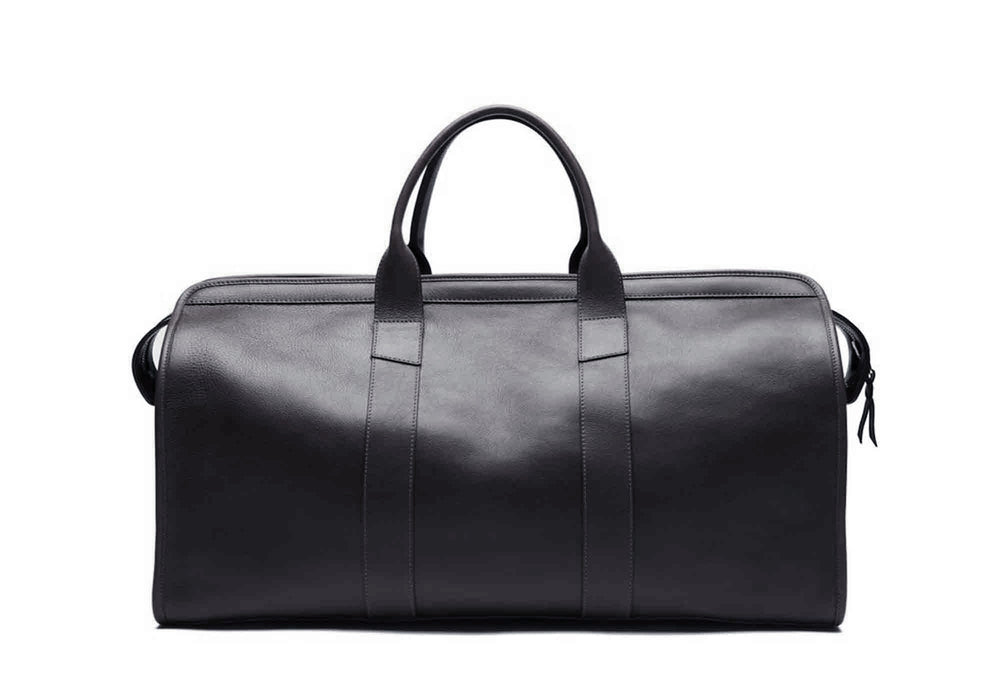 Leather Duffle Travel Bag Navy