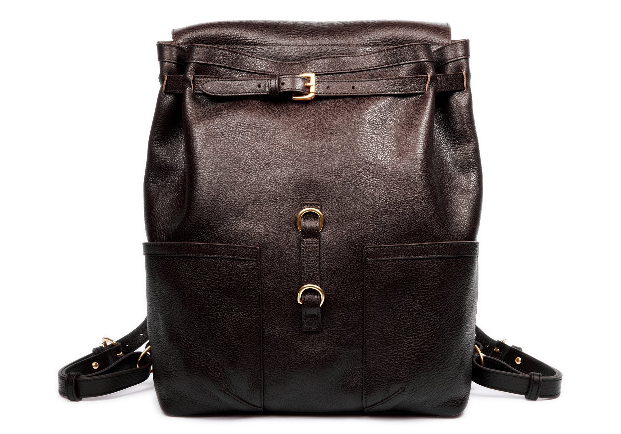 Leather Knapsack Chocolate