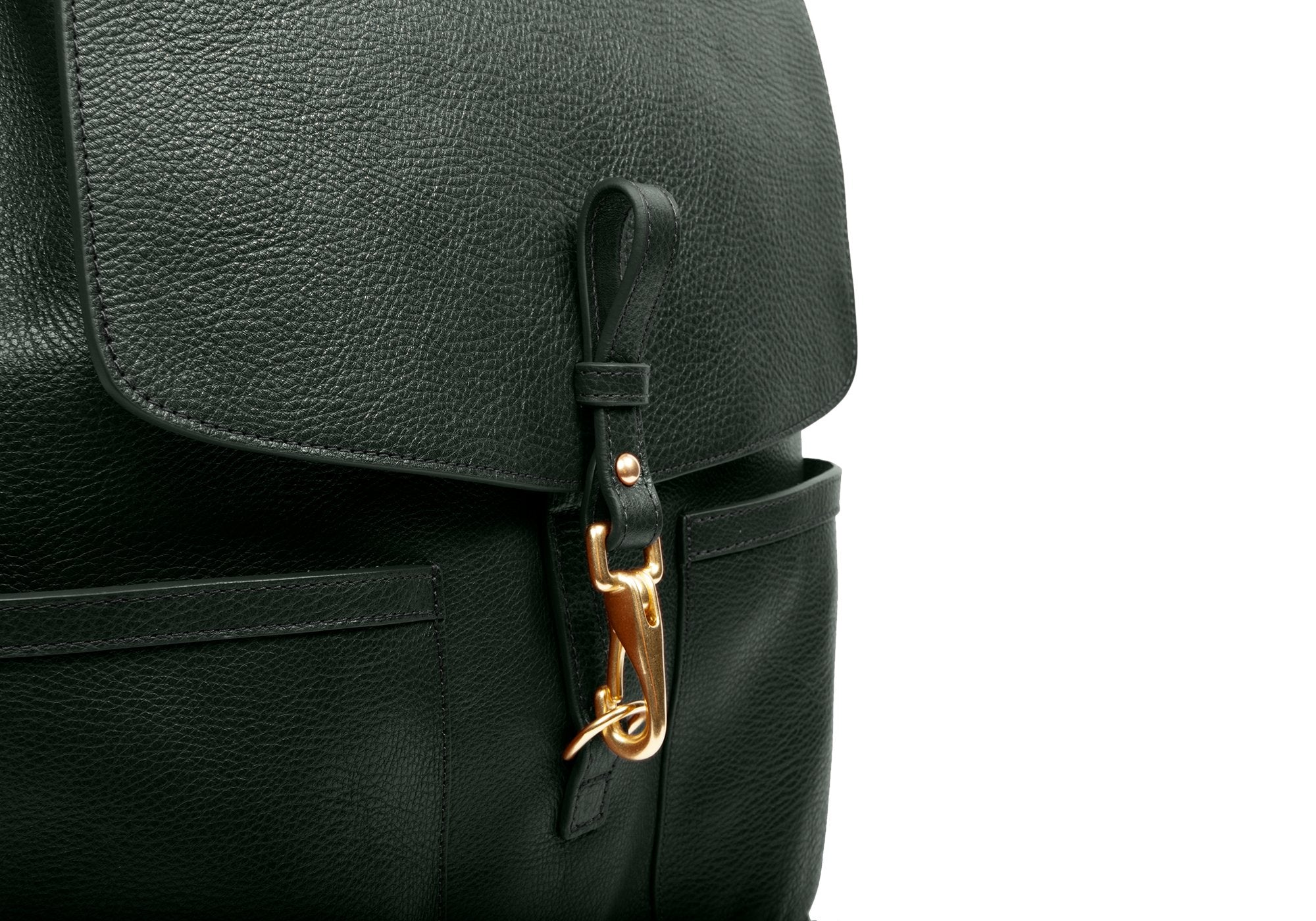 Leather Knapsack Green