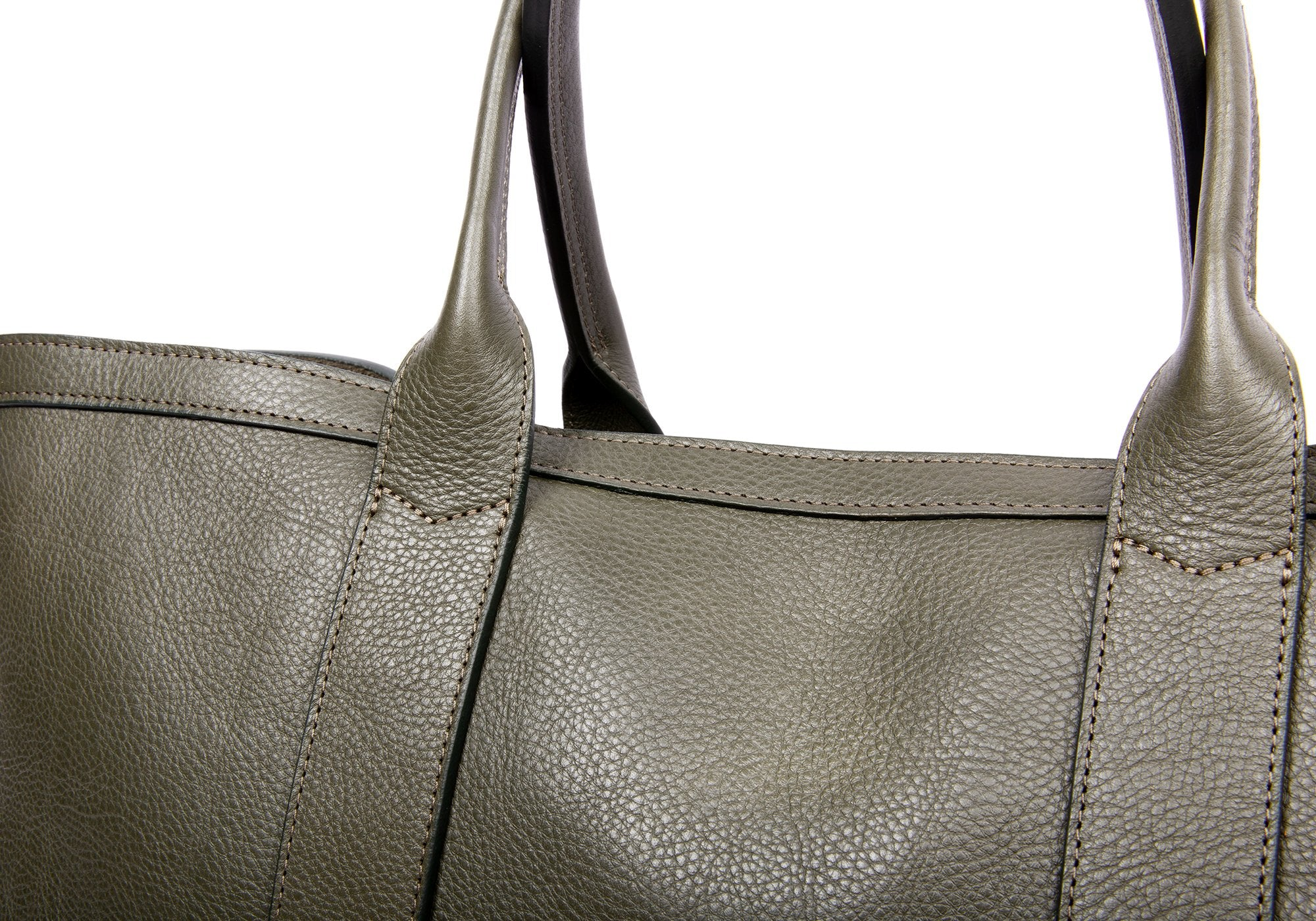Medium Leather Tote Olive