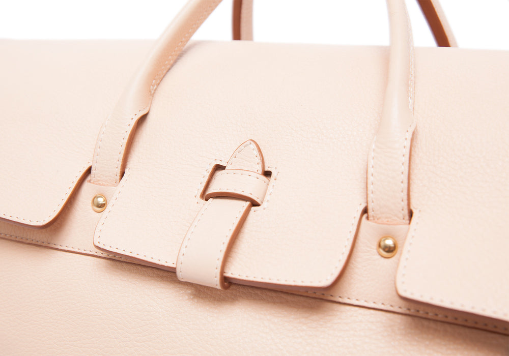 Leather Day Satchel Natural