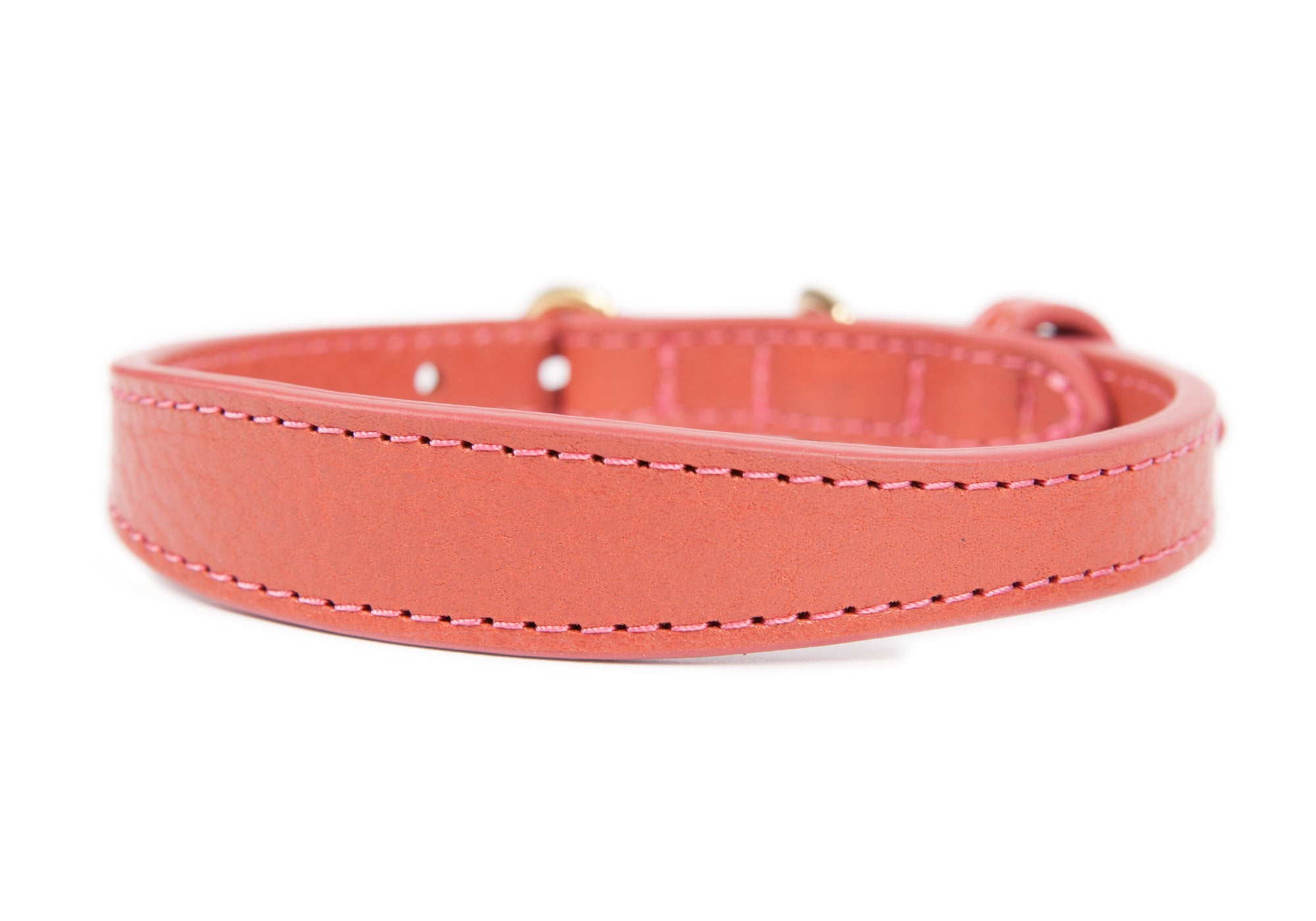 Mini Leather Dog Collar Rosewood