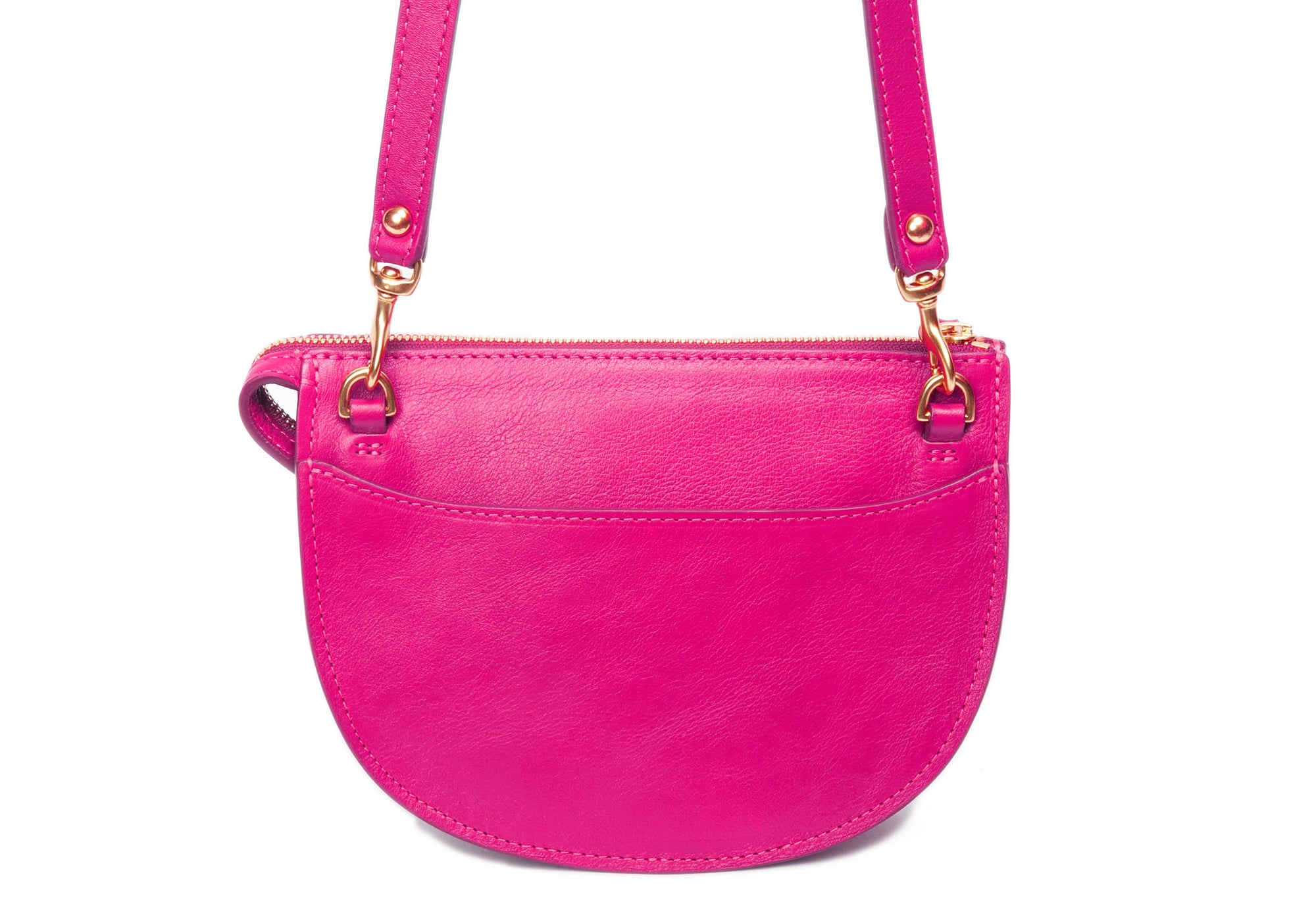 The Mini Luna Belt Bag Magenta-Natural