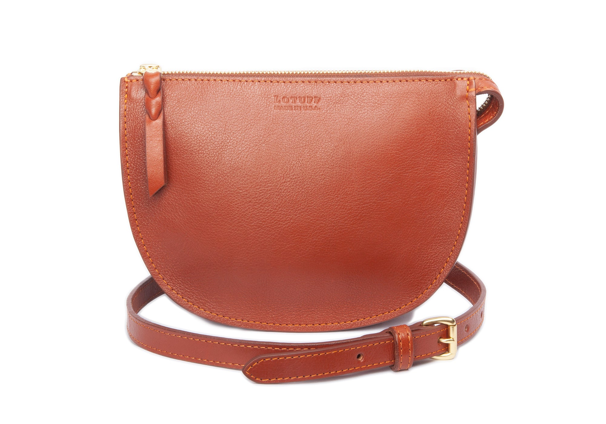 The Mini Luna Belt Bag Saddle Tan-Natural