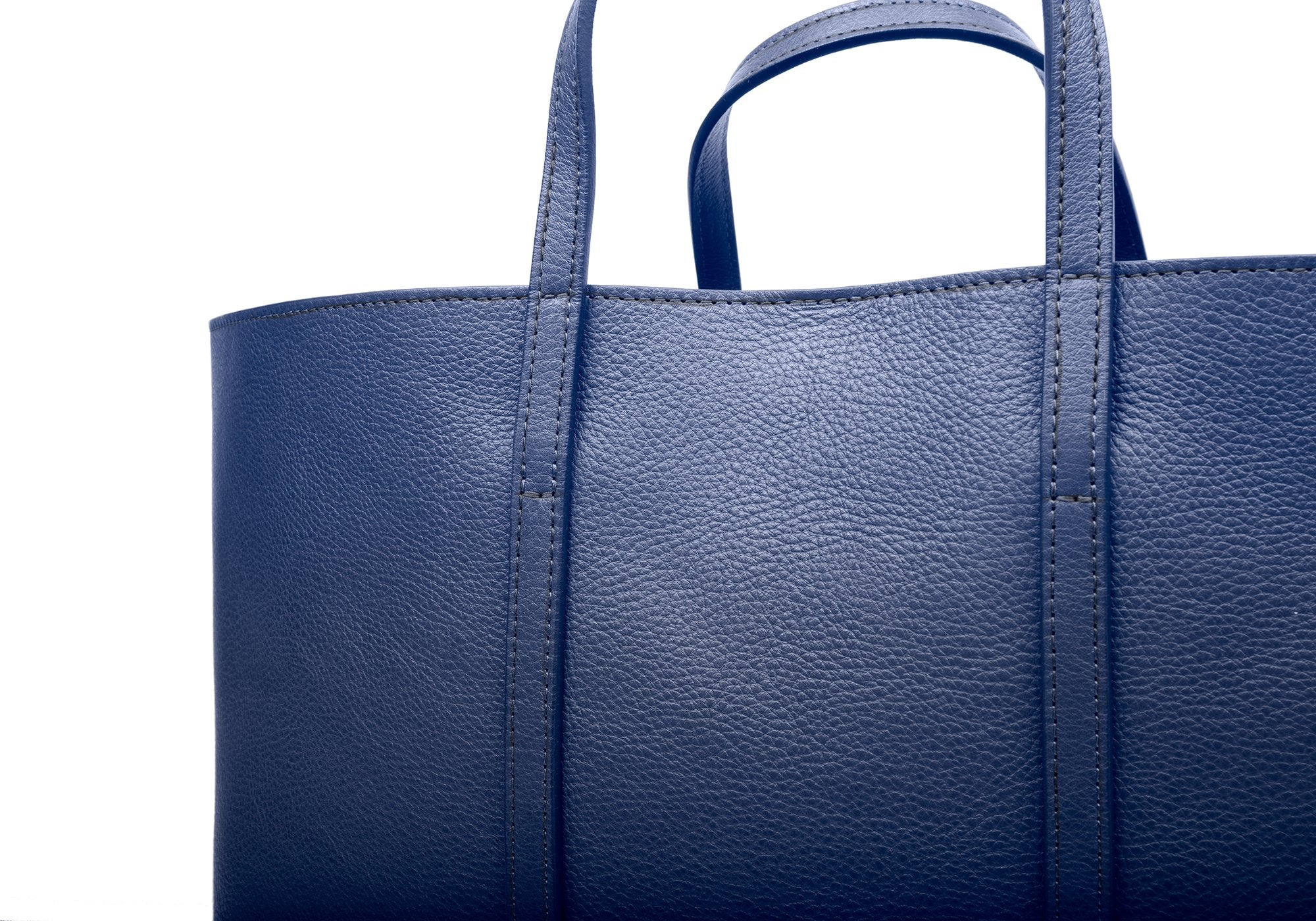The Morris Leather Tote Indigo