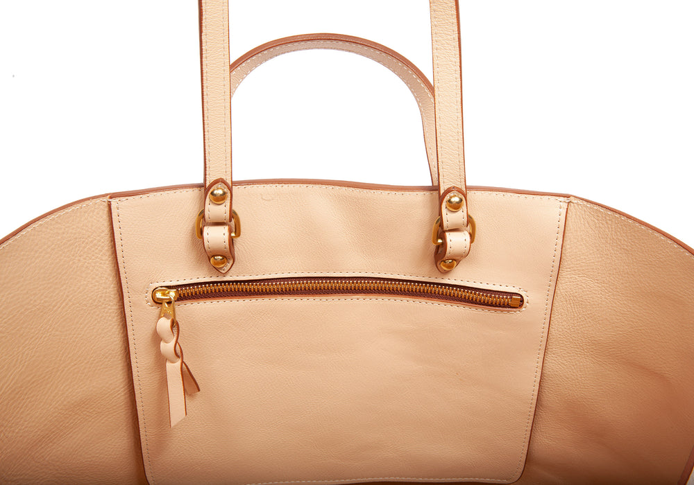 The Morris Leather Tote Natural