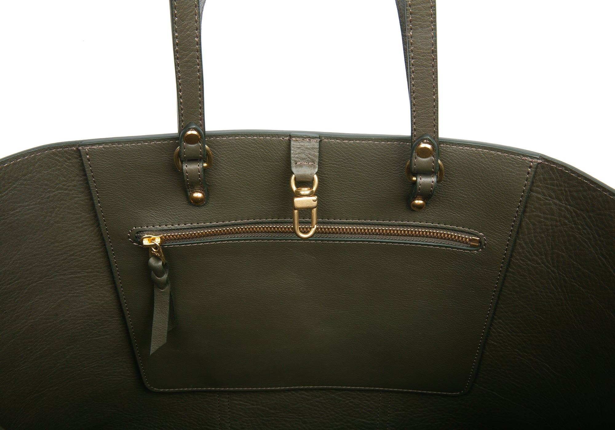 The Morris Leather Tote Olive