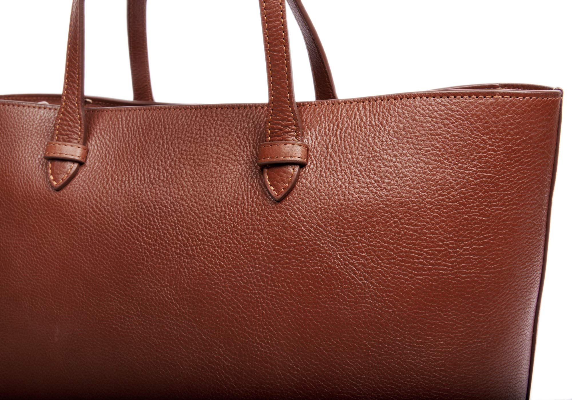 No. 12 Leather Tote Chestnut