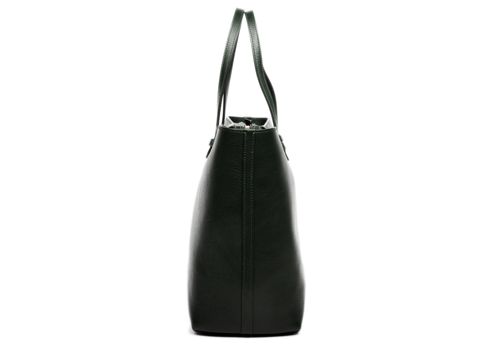 No. 12 Leather Tote Green