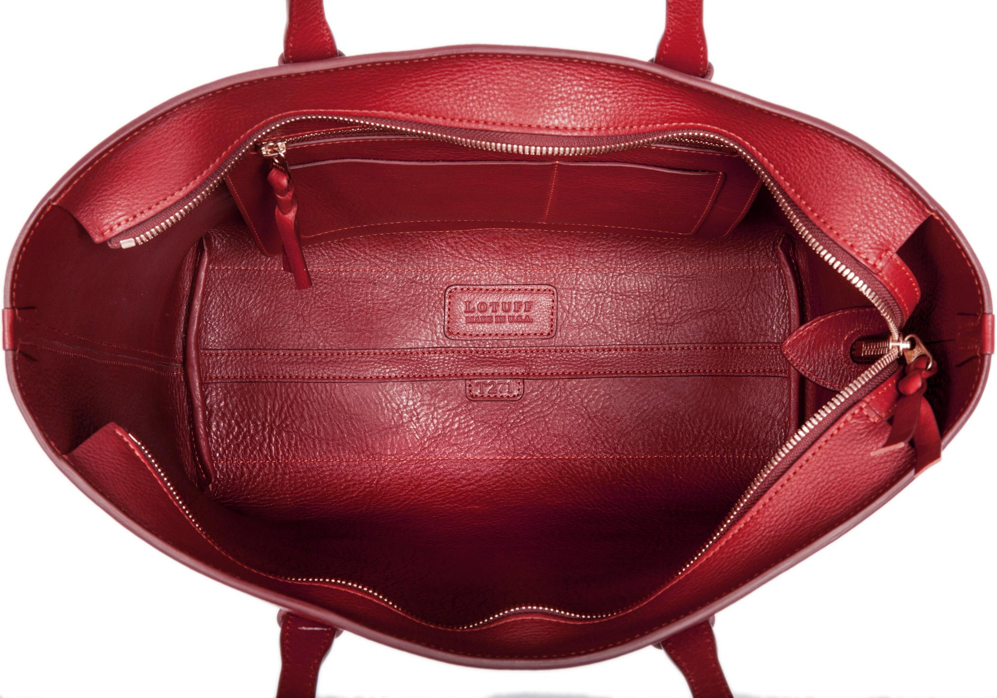 No. 12 Leather Tote Red
