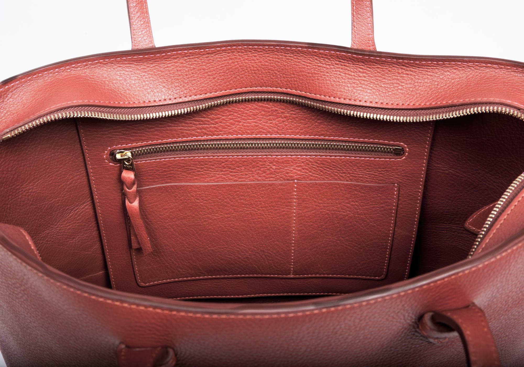 No. 12 Leather Tote Rosewood