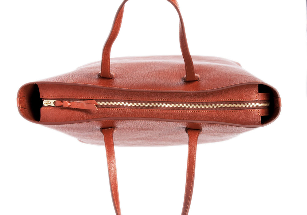 No. 12 Leather Tote Saddle Tan