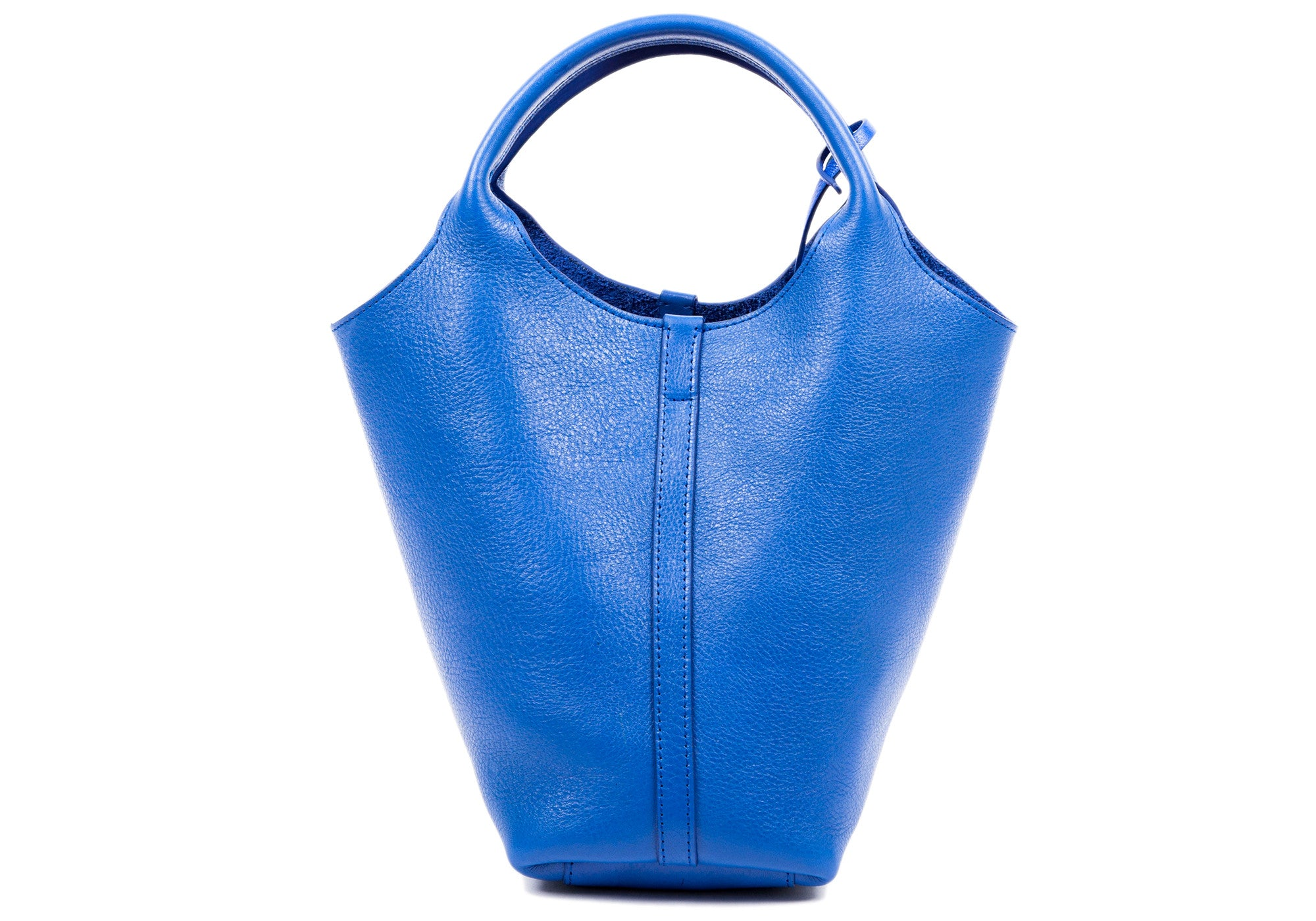 The One-Piece Bag Electric Blue|Front Leather View