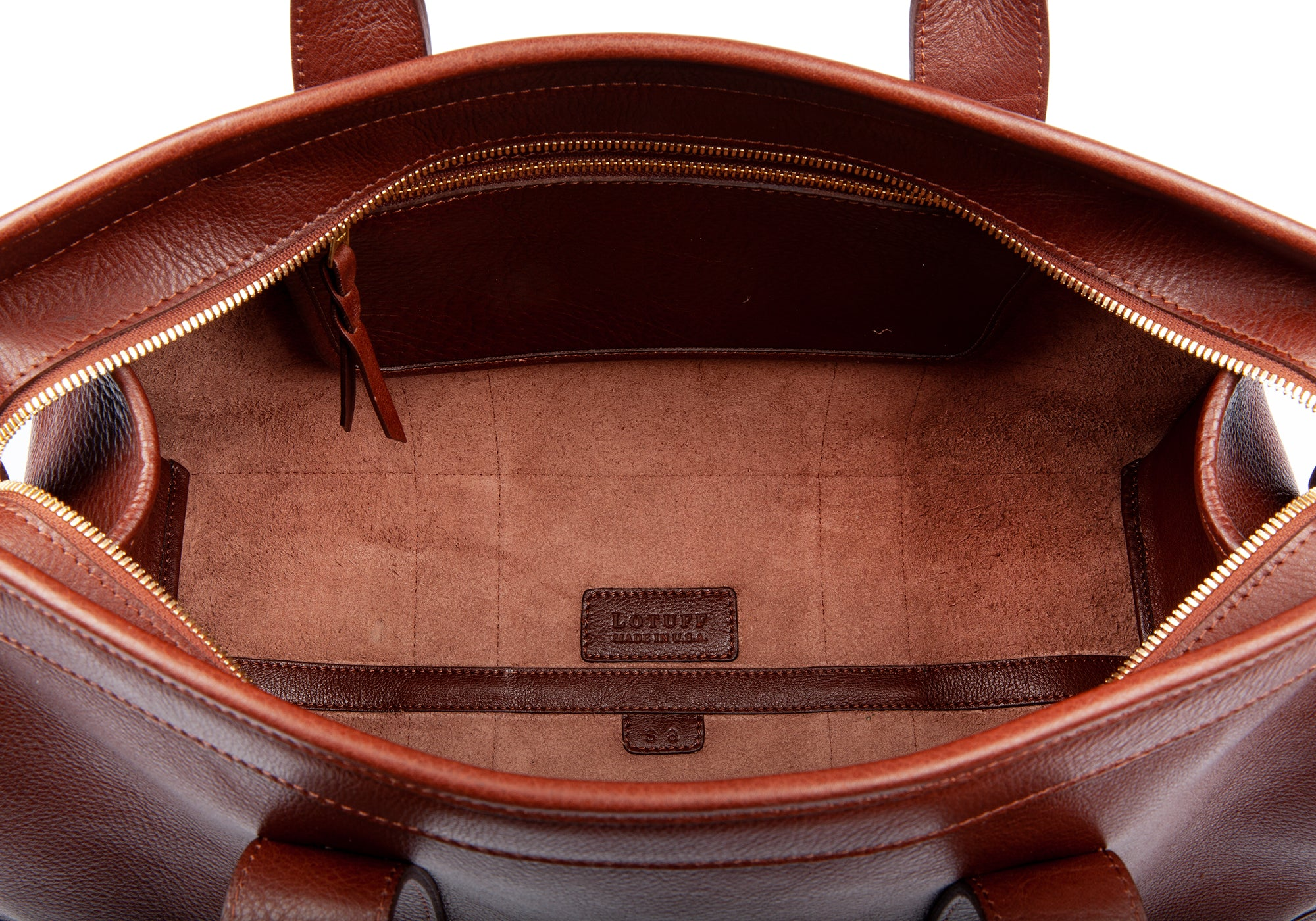 Small Leather Duffle Chestnut