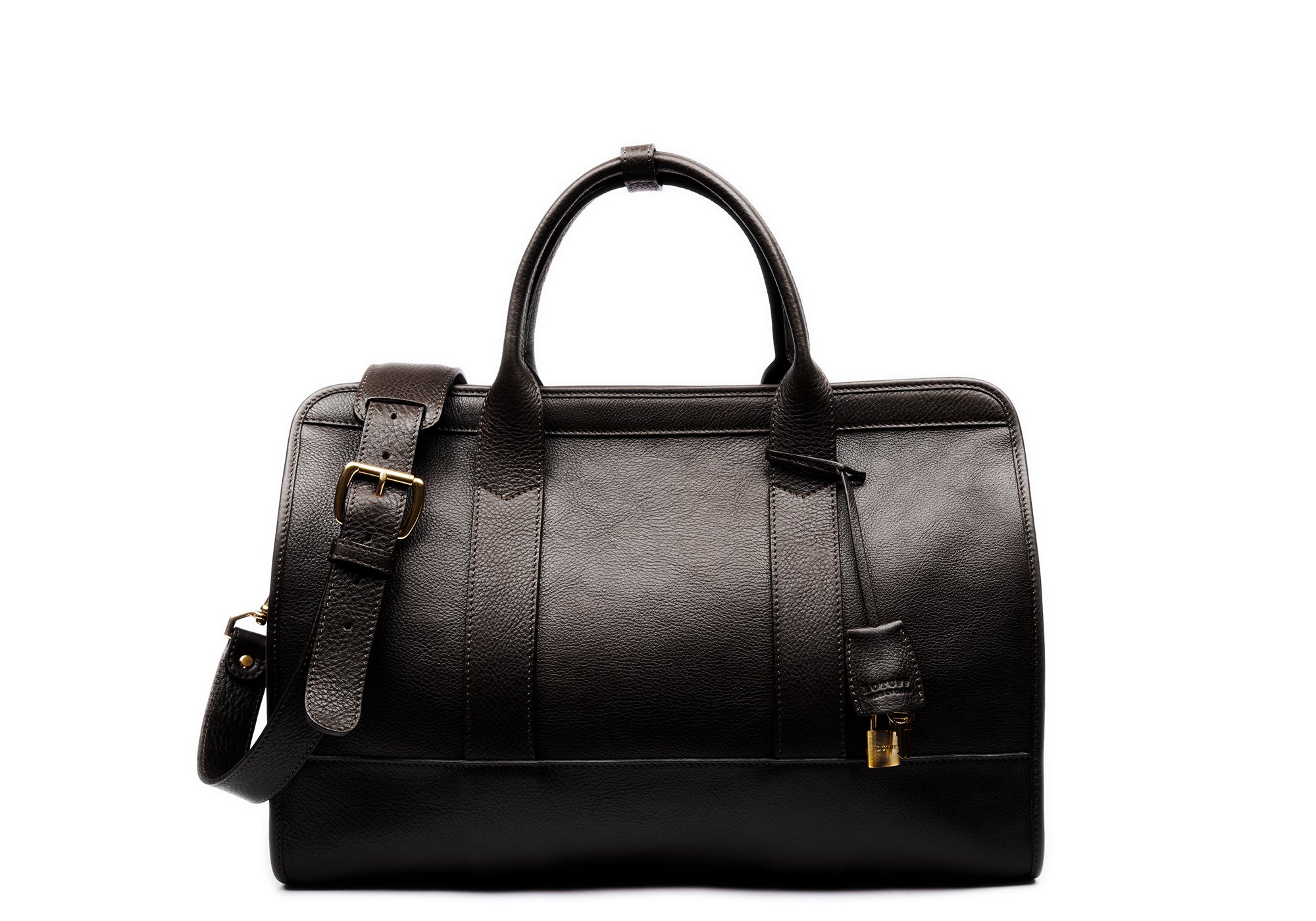Small Leather Duffle Chocolate