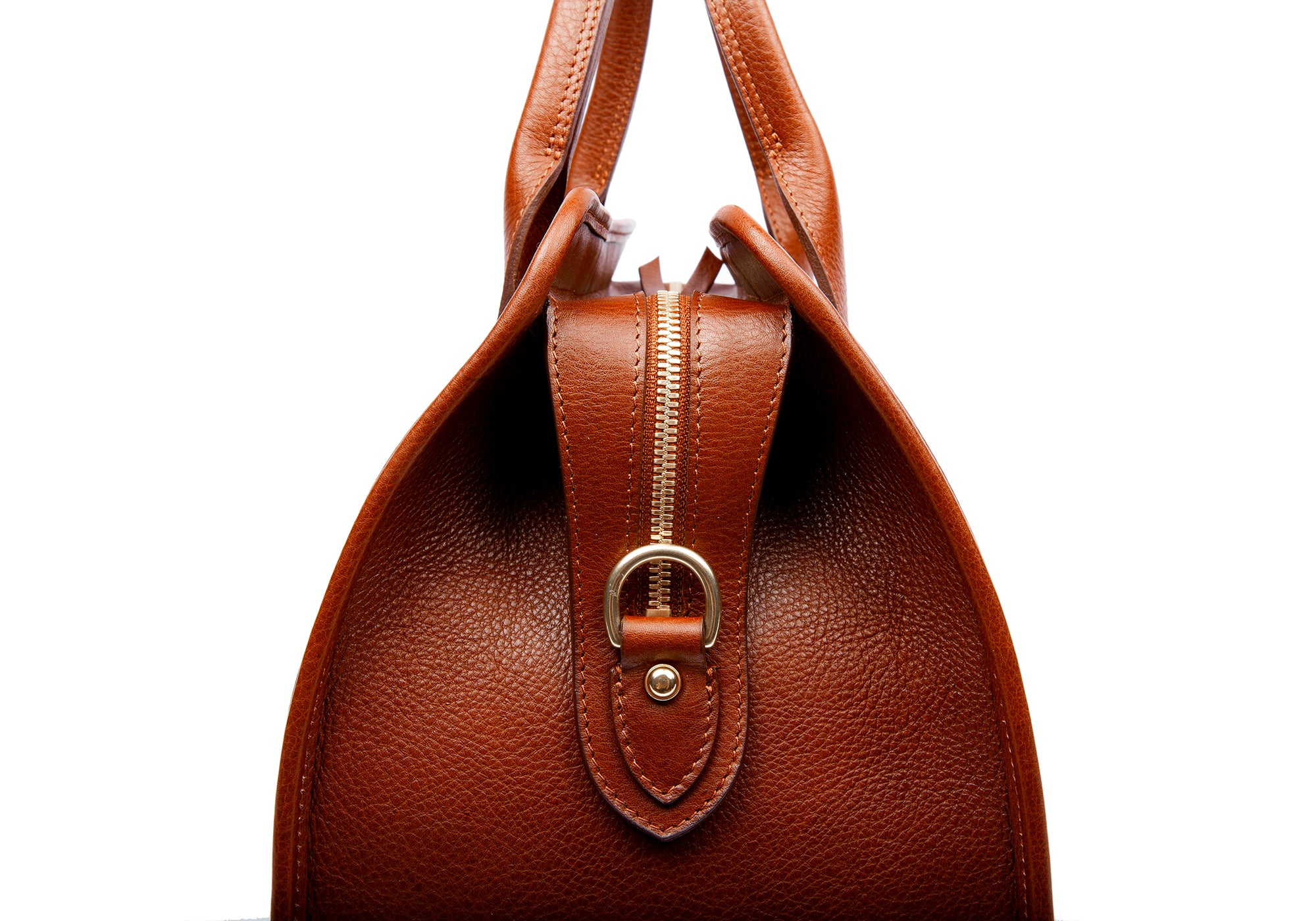 Small Leather Duffle Saddle Tan
