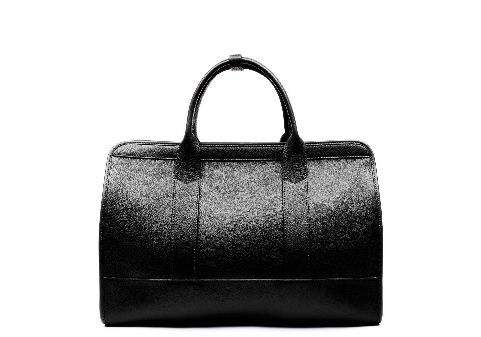 Small Leather Duffle Black