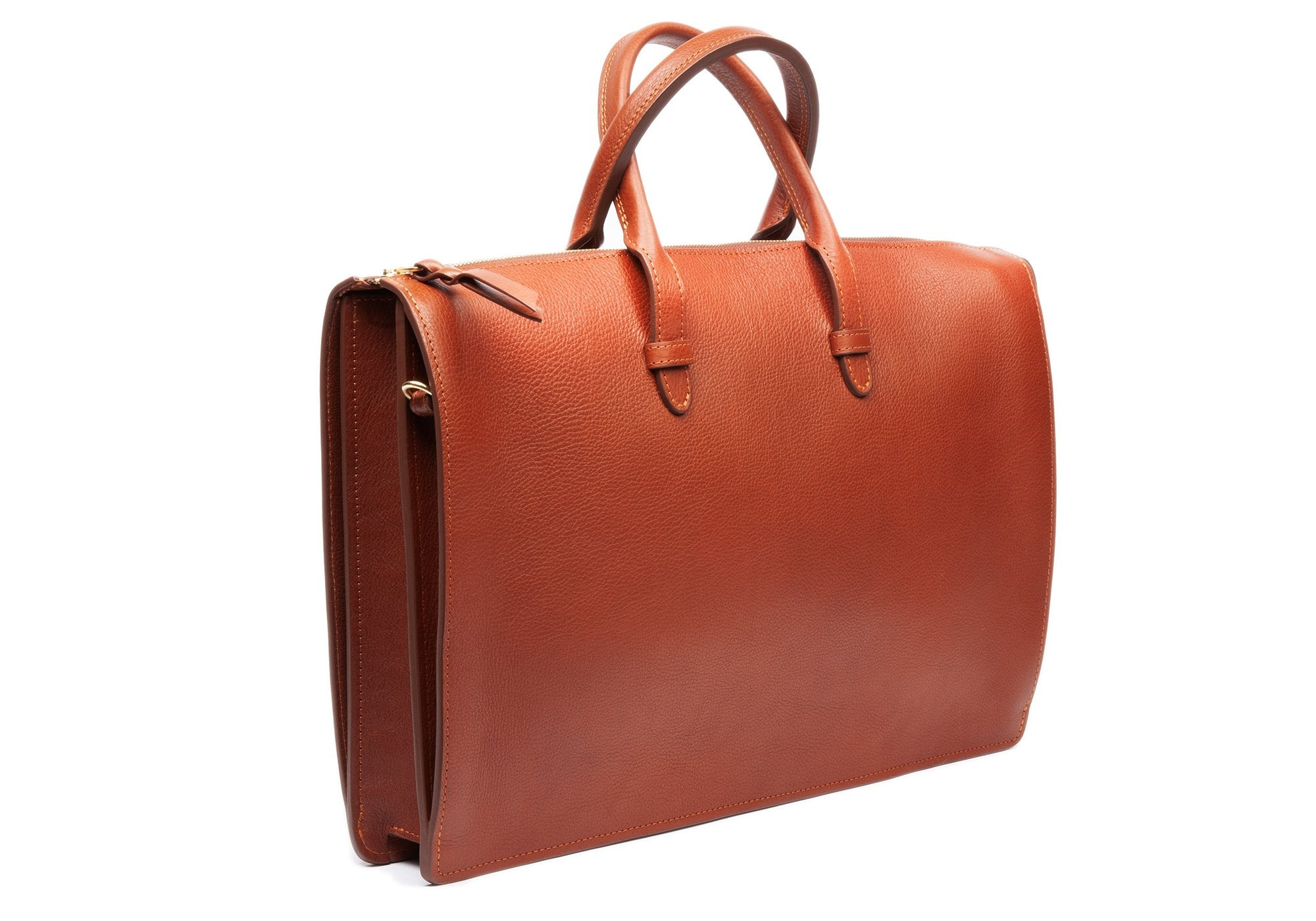 The Triumph Briefcase Saddle Tan