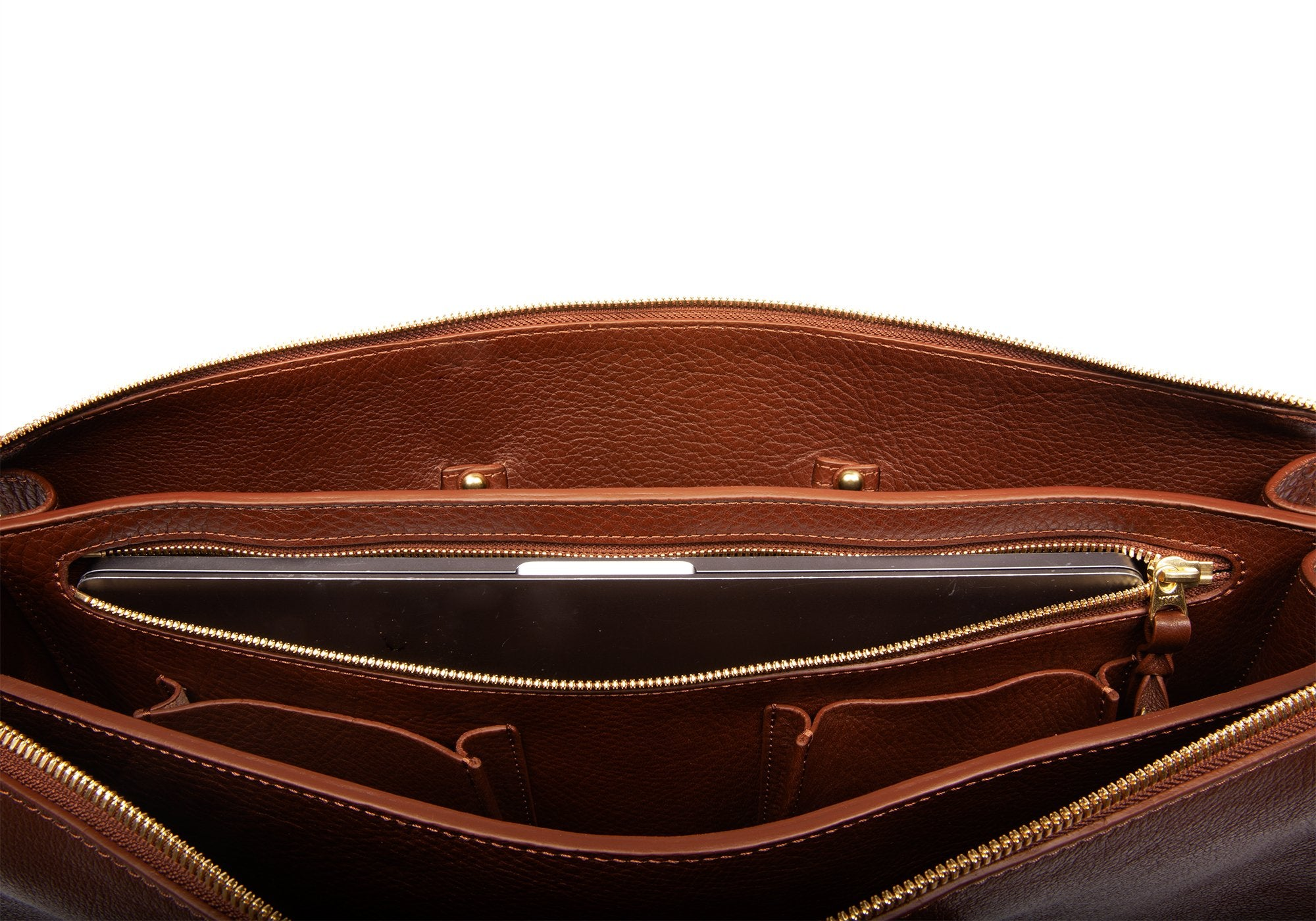 The Triumph Briefcase Chestnut