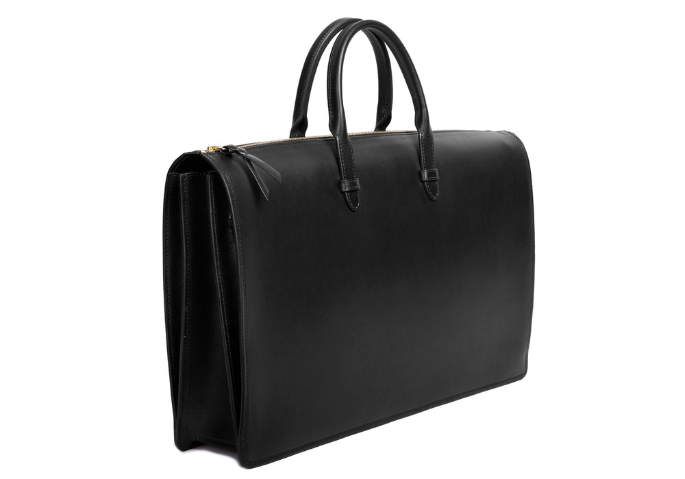 The Bridle Triumph III Briefcase Black Bridle
