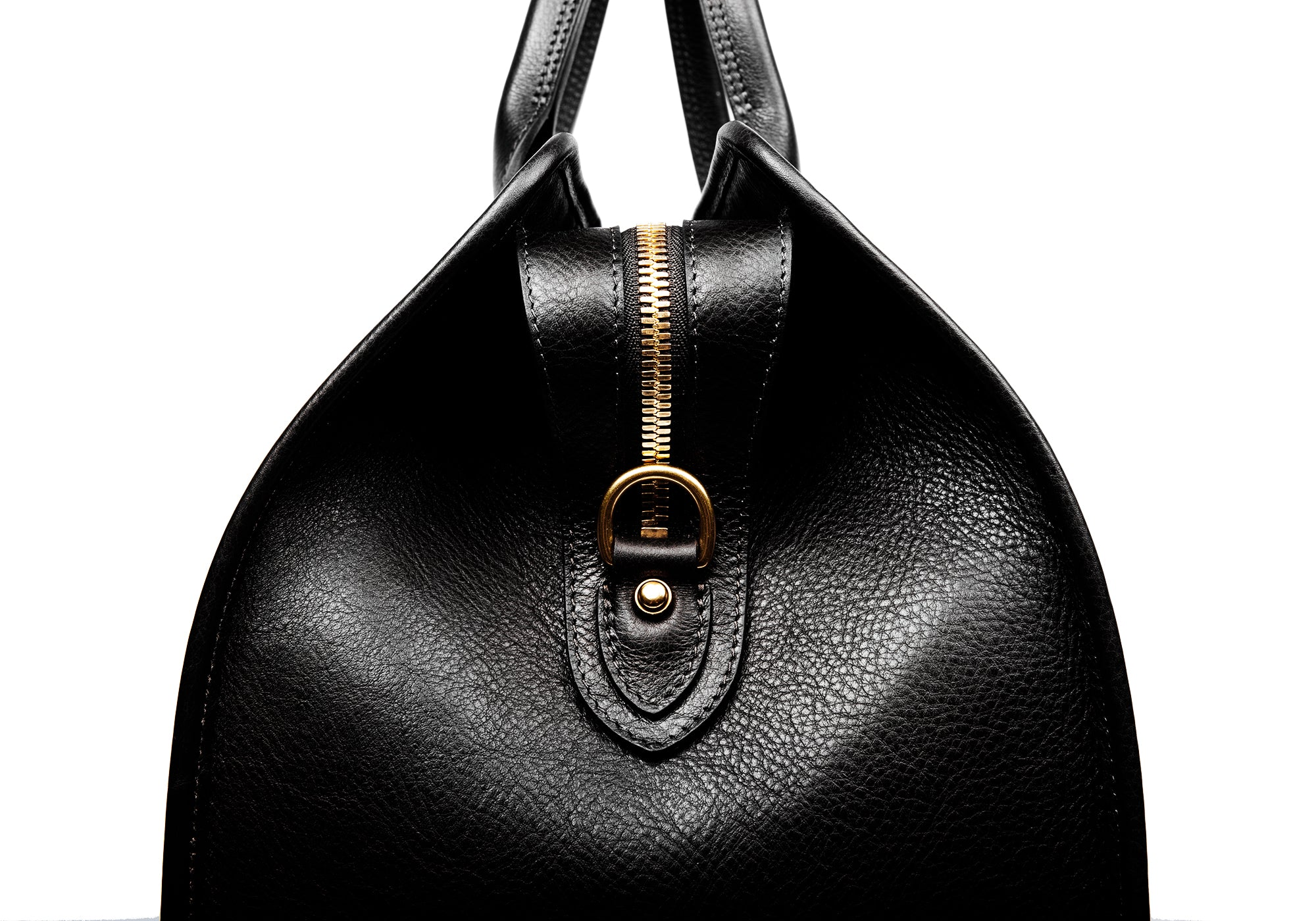 Leather Trunk Duffle Bag Black