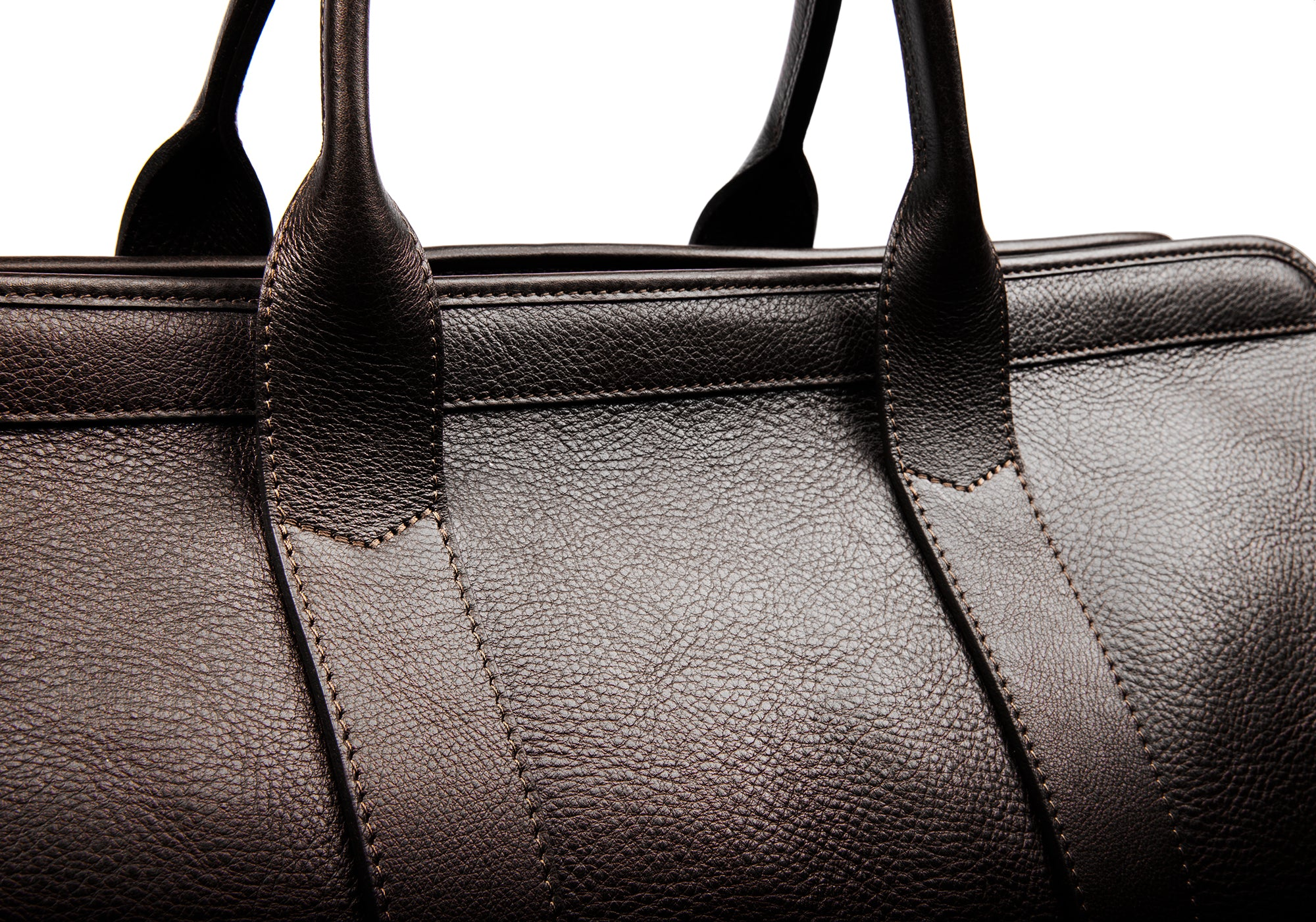 Leather Trunk Duffle Bag Chocolate
