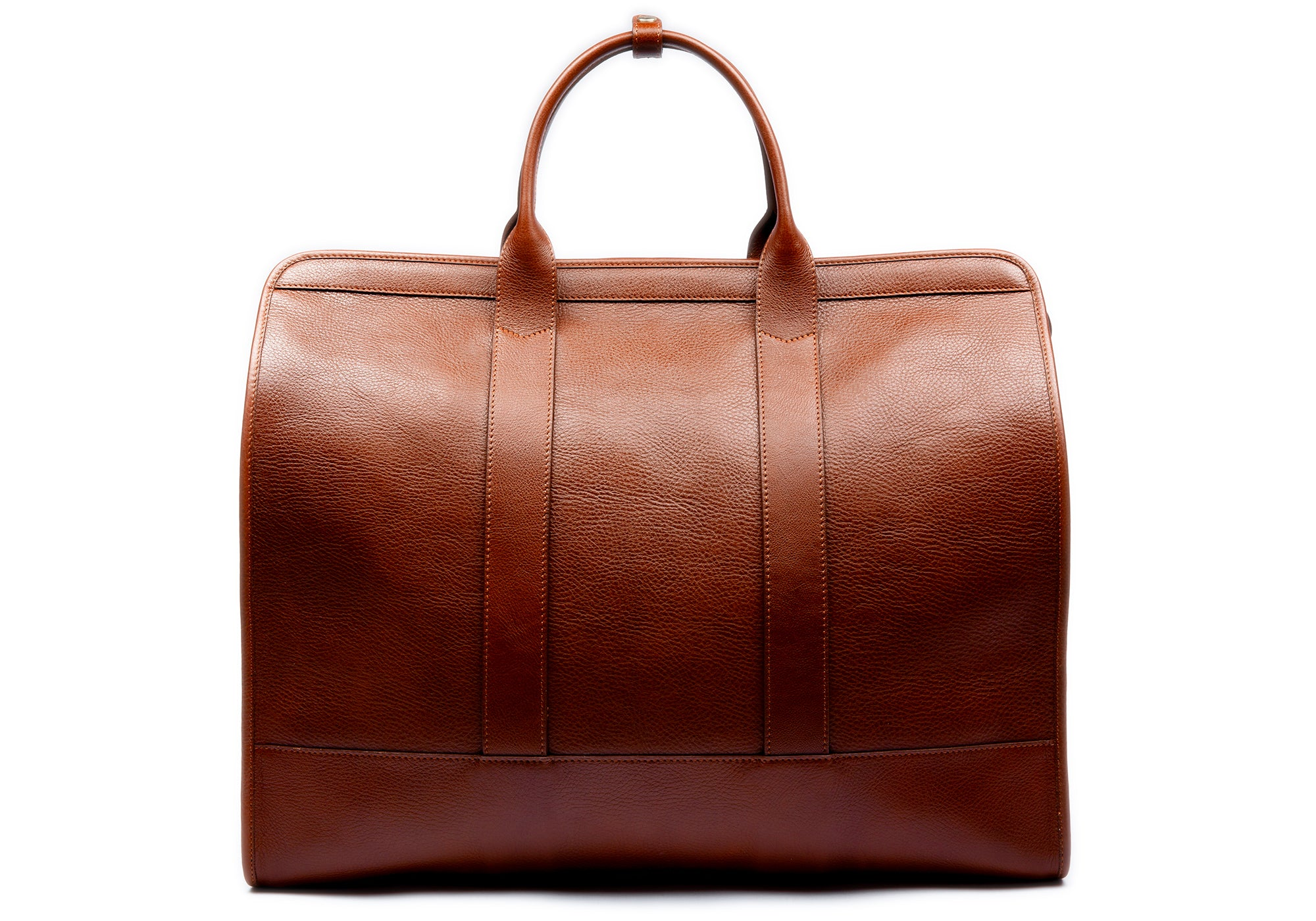 Leather Trunk Duffle Bag Saddle Tan
