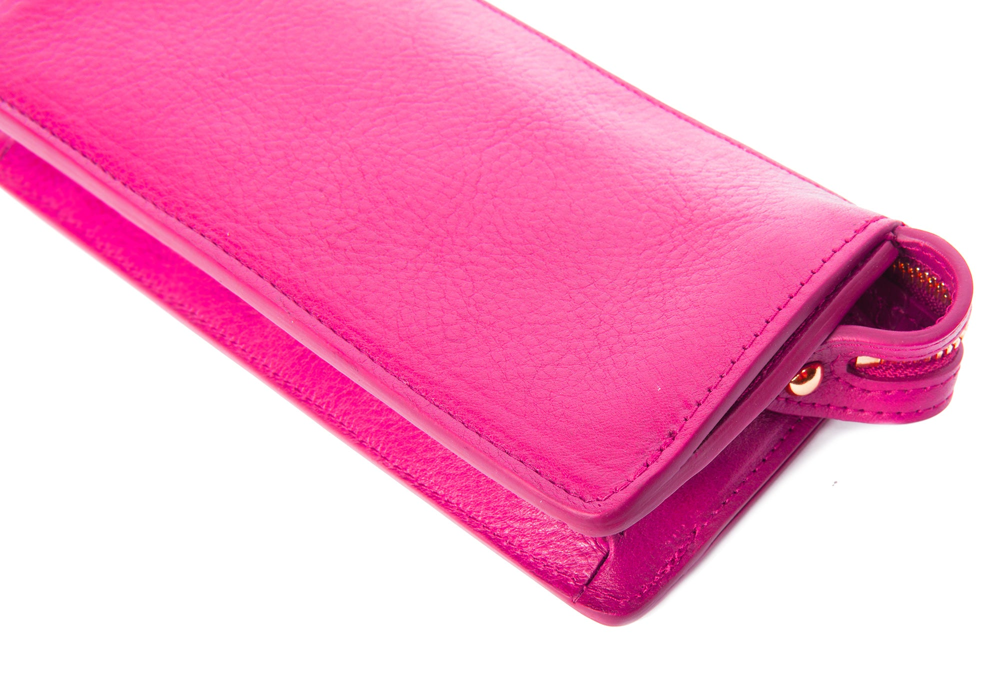 Women's Leather Wallet Magenta